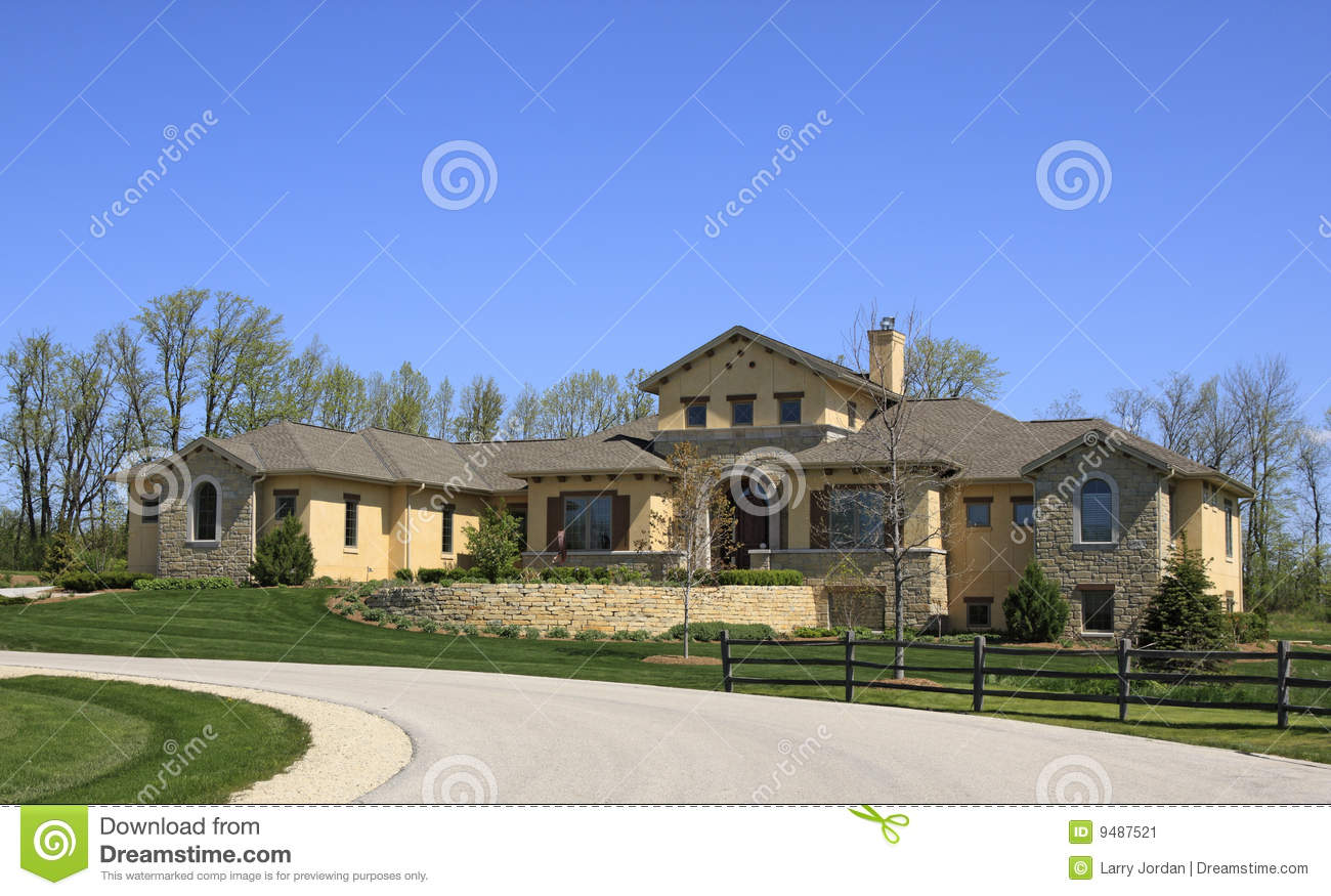 South Western Style Home Stock Image - Image: 9487521