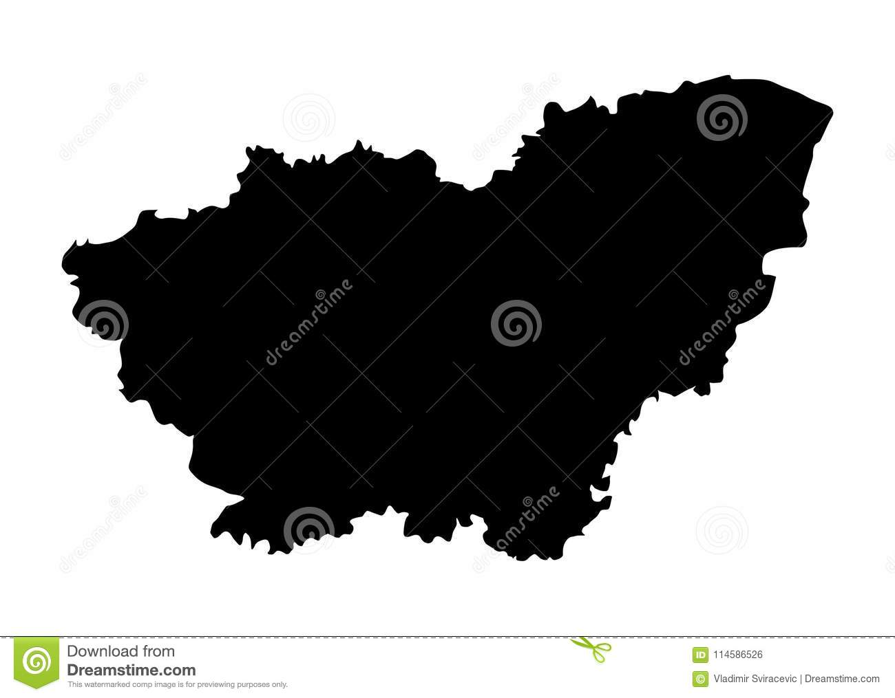 Map Of England Showing Yorkshire.South Yorkshire Map Silhouette Stock Illustration Illustration Of