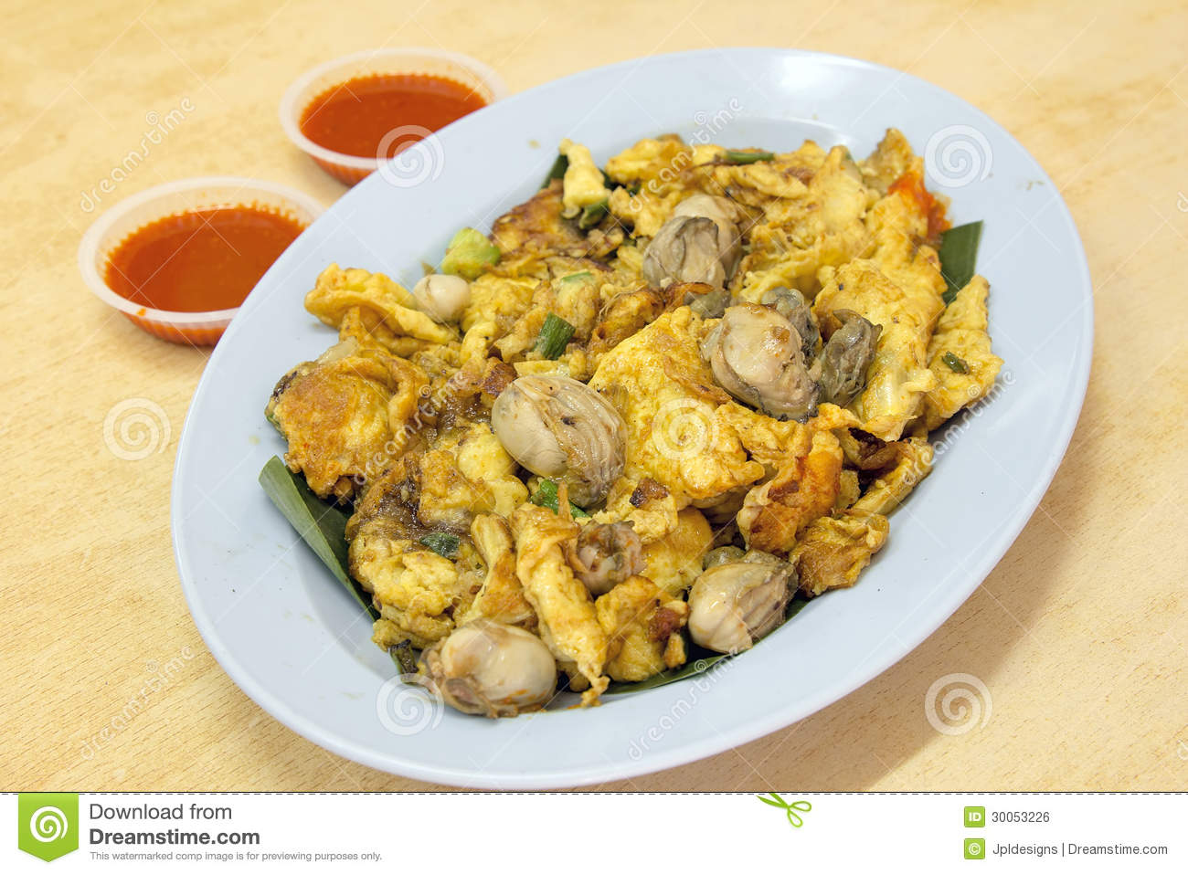 Oyster Omelette Royalty-Free Stock Photo | CartoonDealer ...