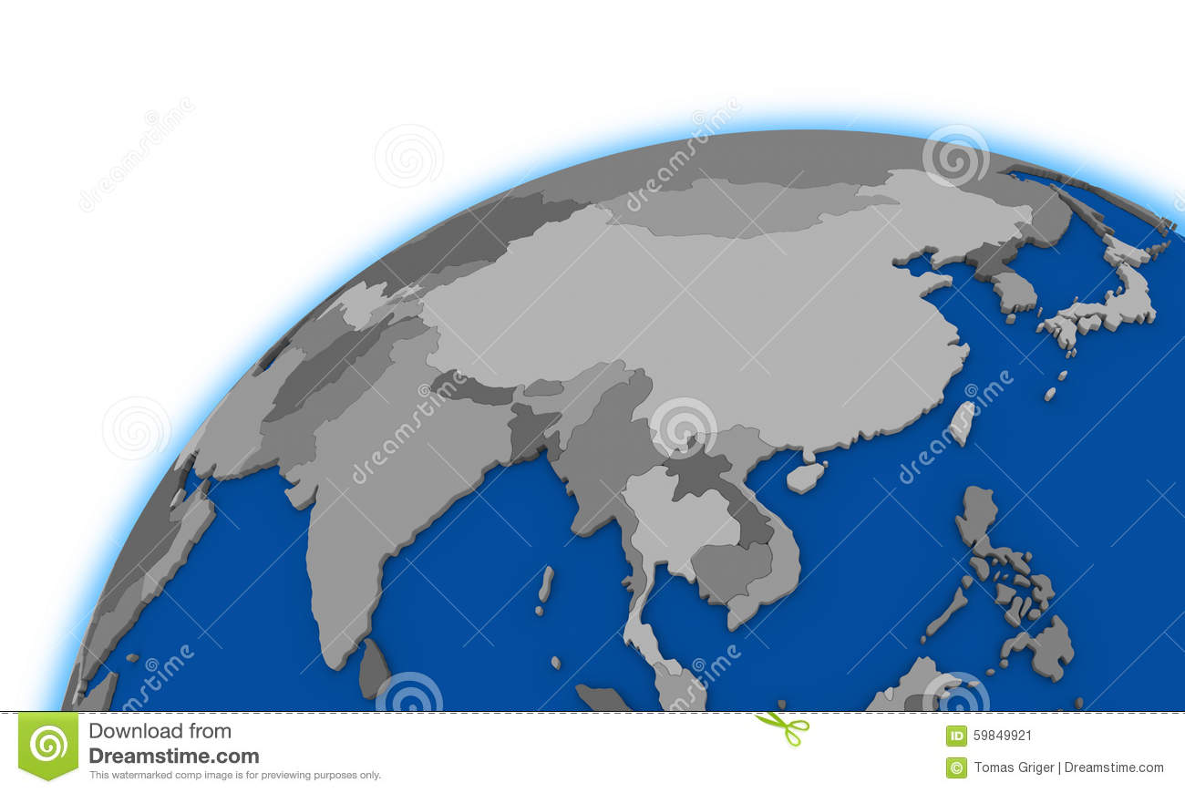 Southeast Asia Map Political.Southeast Asia On Globe Political Map Stock Illustration
