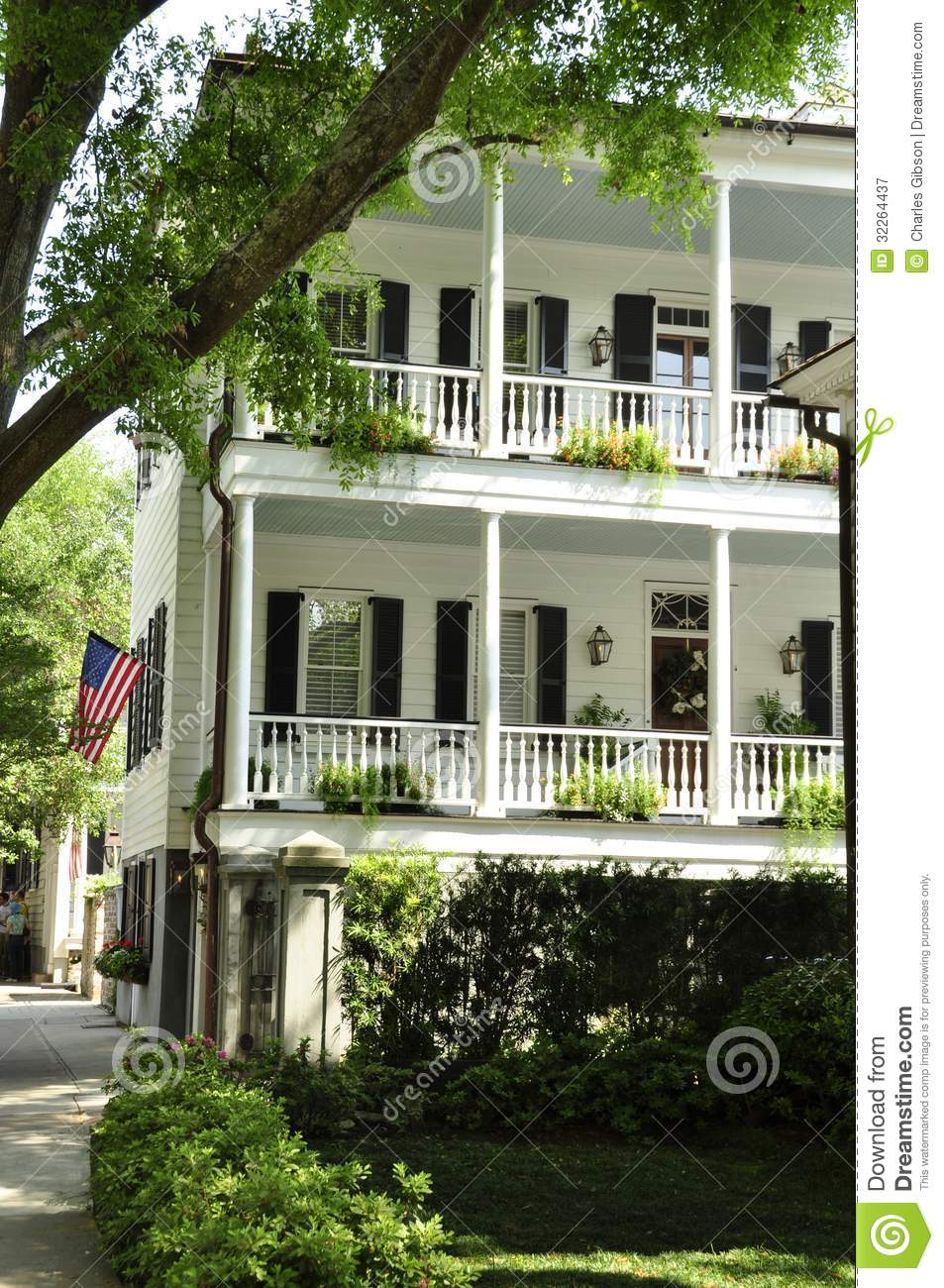 Southern Architecture Charleston Sc Royalty Free Stock
