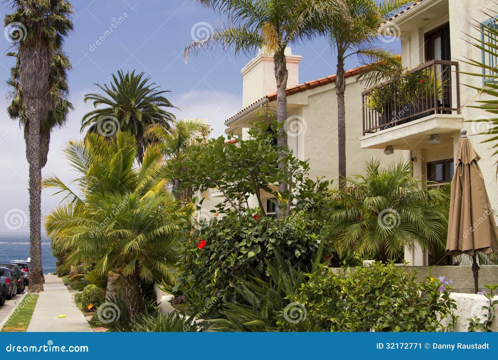 Southern California Ocean Beach Homes Stock Image Image 32172771