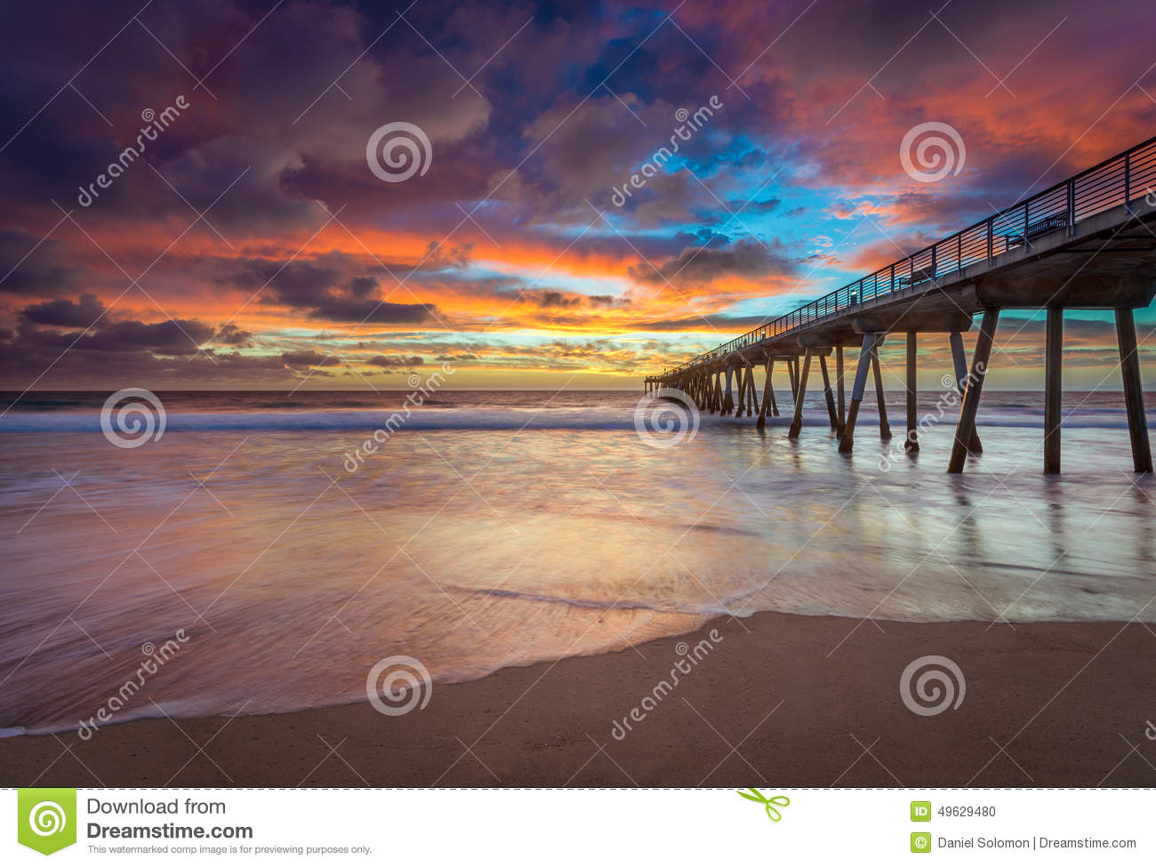 Southern California Pier at Sunset