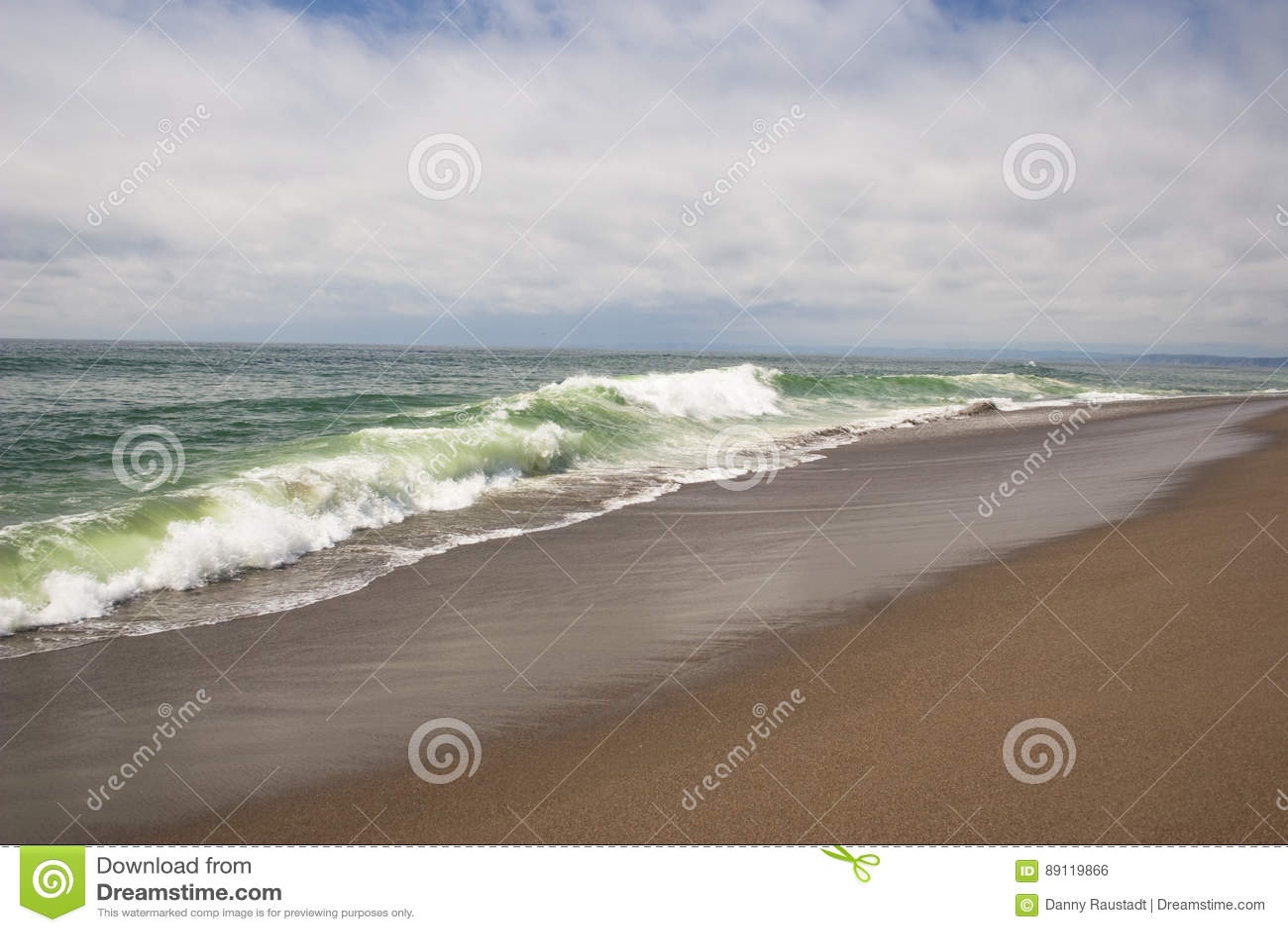 Southern California remote sandy ocean beach