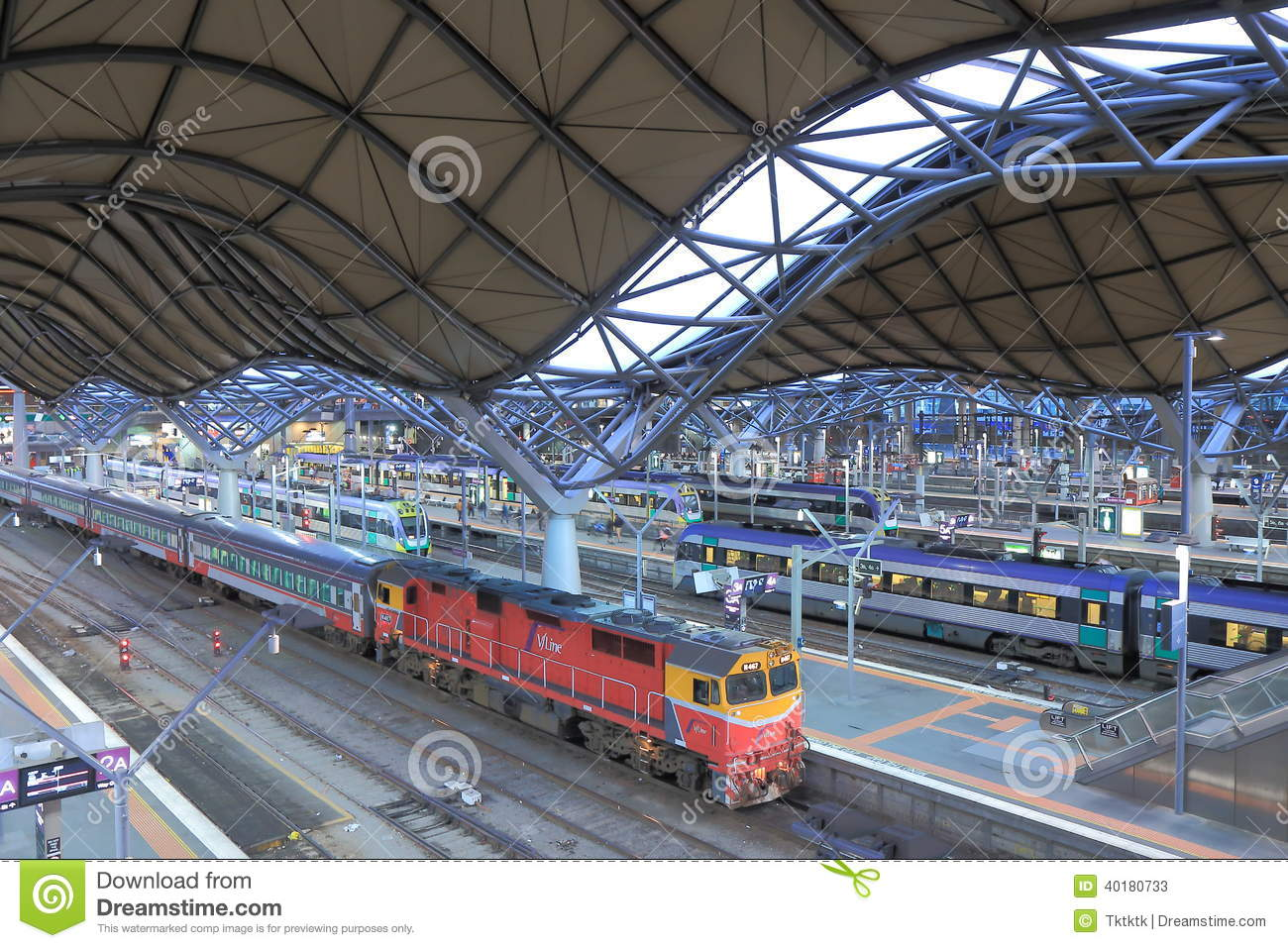 southern cross station bus terminal editorial stock photo. Black Bedroom Furniture Sets. Home Design Ideas