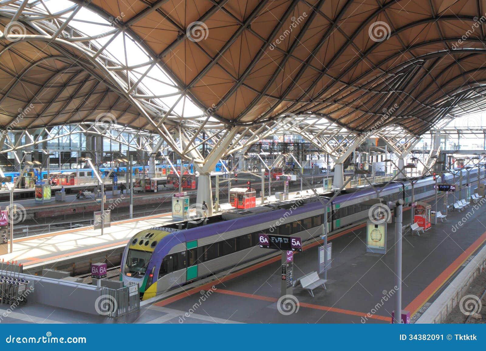 southern cross train station melbourne editorial photo. Black Bedroom Furniture Sets. Home Design Ideas