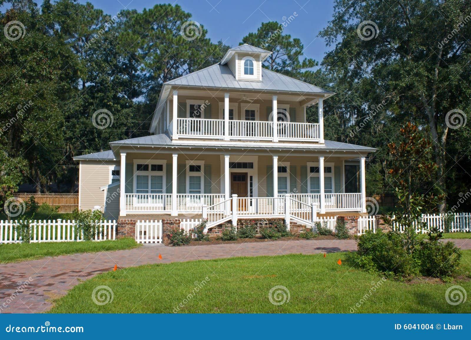 Southern Georgia Coastal Home Stock Images Image 6041004