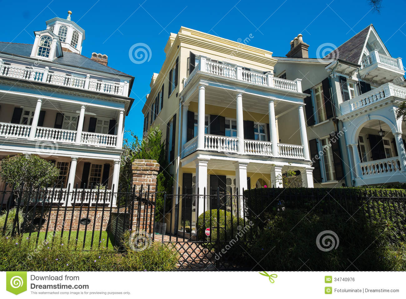 Southern Homes Royalty Free Stock Image Image 34740976