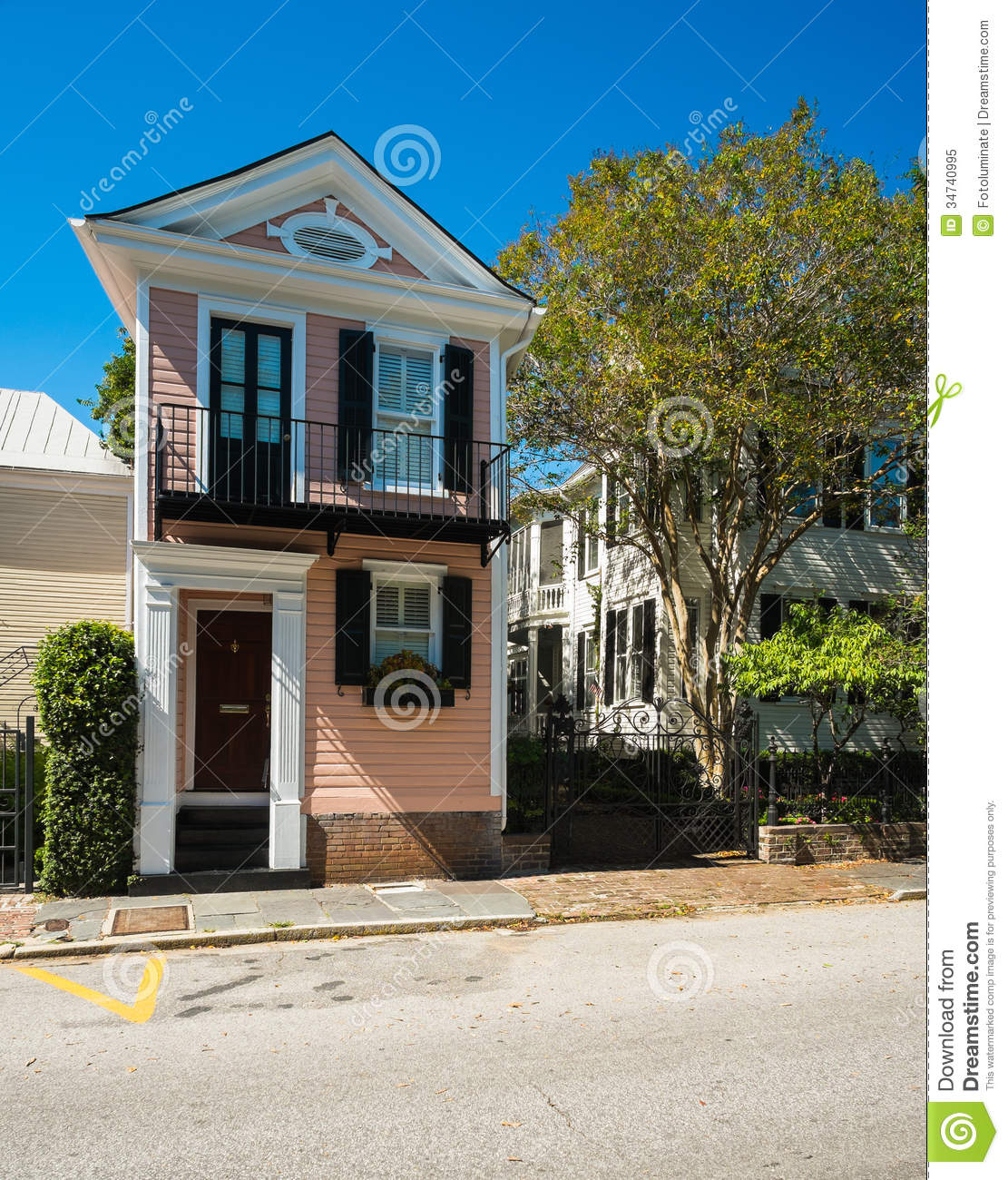 Southern Homes Stock Image Image Of Balcony Neighborhood