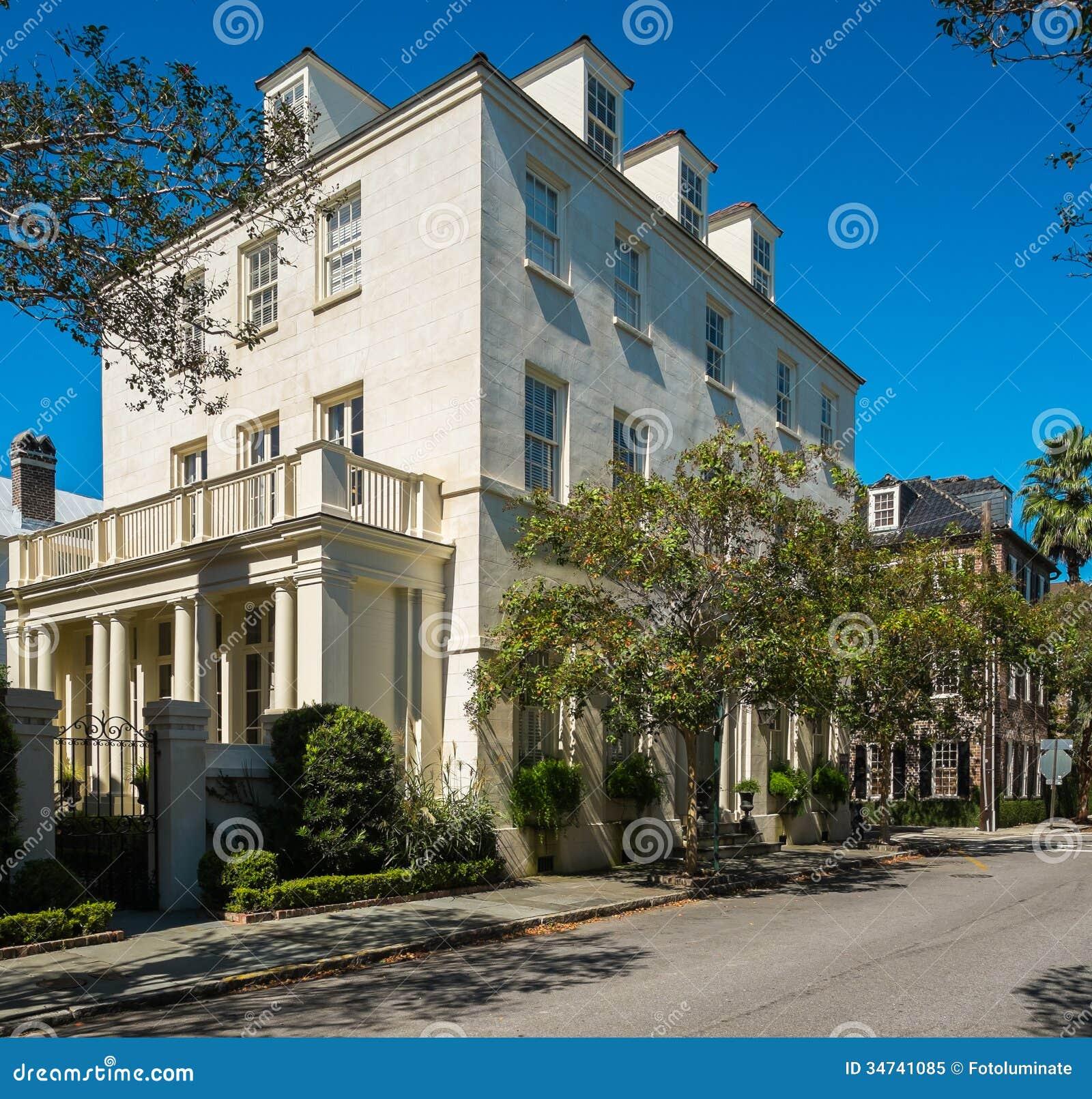 Charleston Sc Homes: Southern Homes Royalty Free Stock Photo