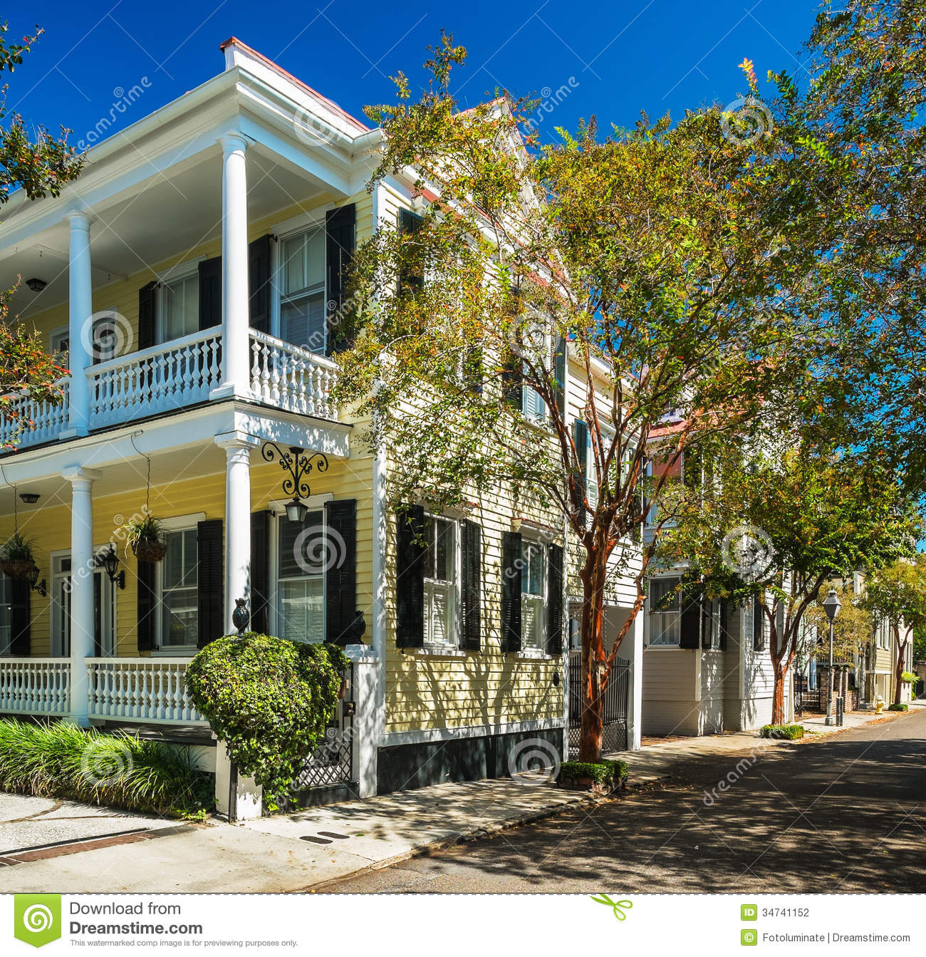 Southern homes stock photo image of attraction french for Builders in south carolina