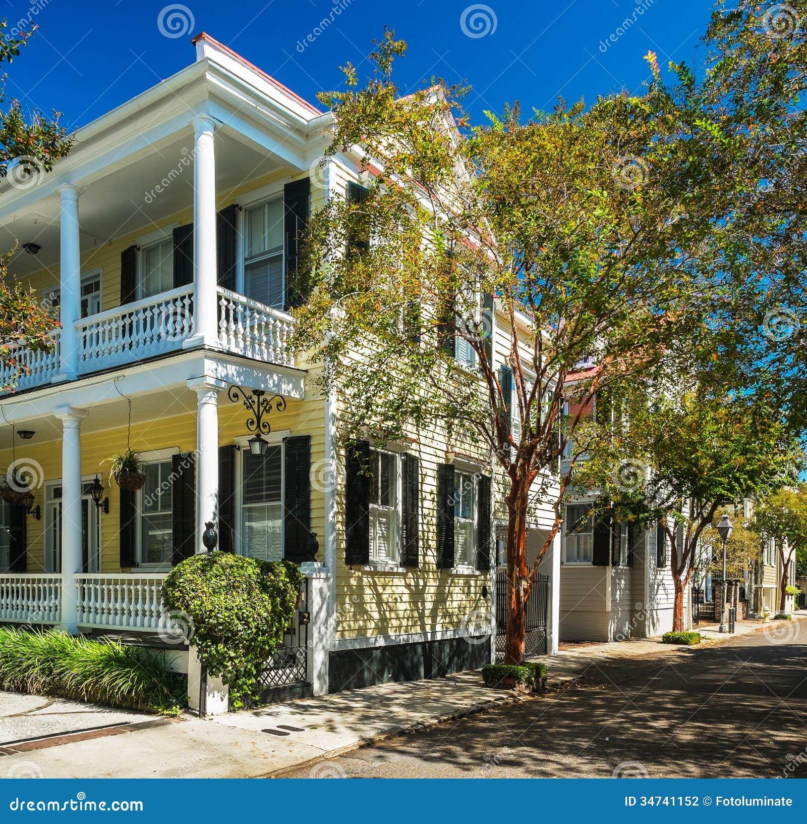 Charleston Sc Homes: Southern Homes Stock Photography