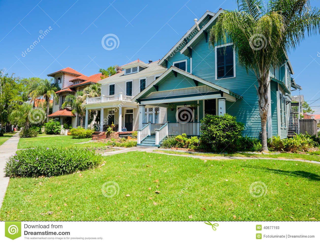 Southern Homes Stock Photo Image 40677193