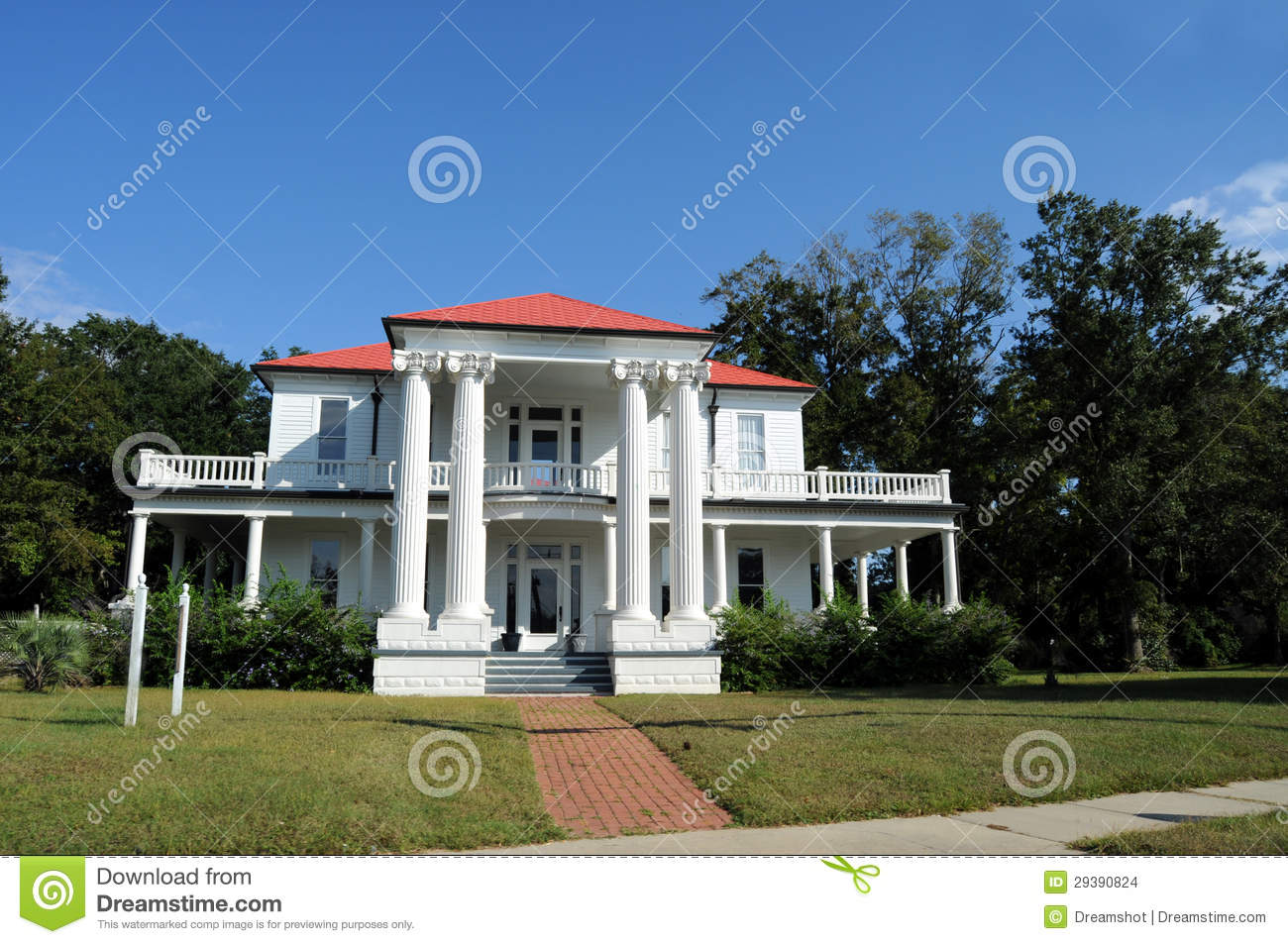 Southern mansion stock images image 29390824 Southern mansion house plans