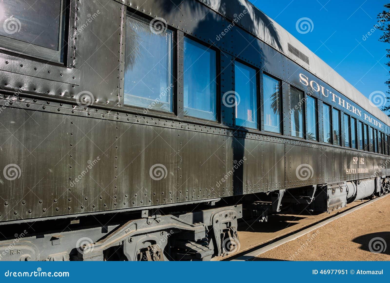 southern pacific train car santa barbara editorial photo image 46977951. Black Bedroom Furniture Sets. Home Design Ideas