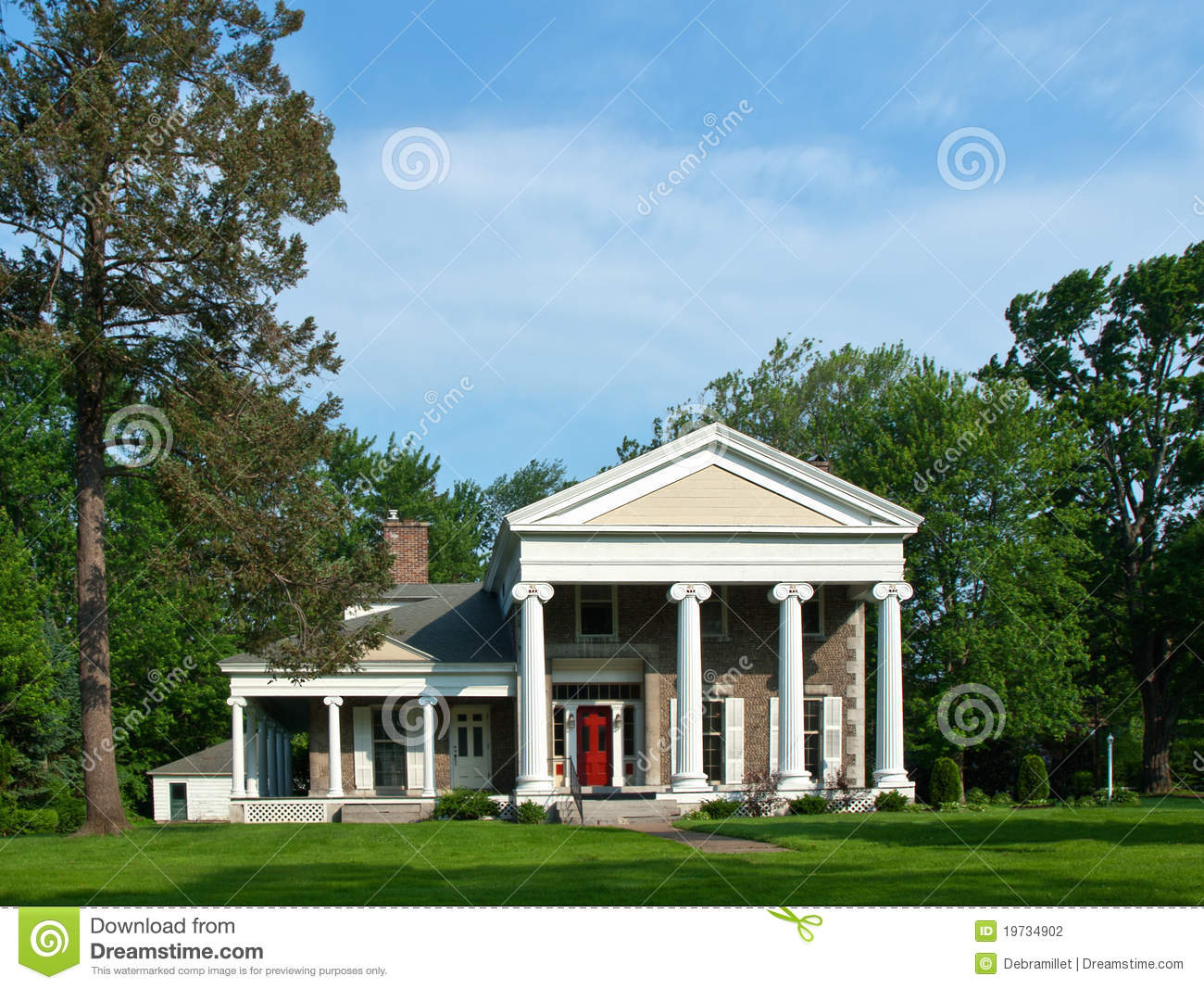 Southern Style Home Stock Photography Image 19734902