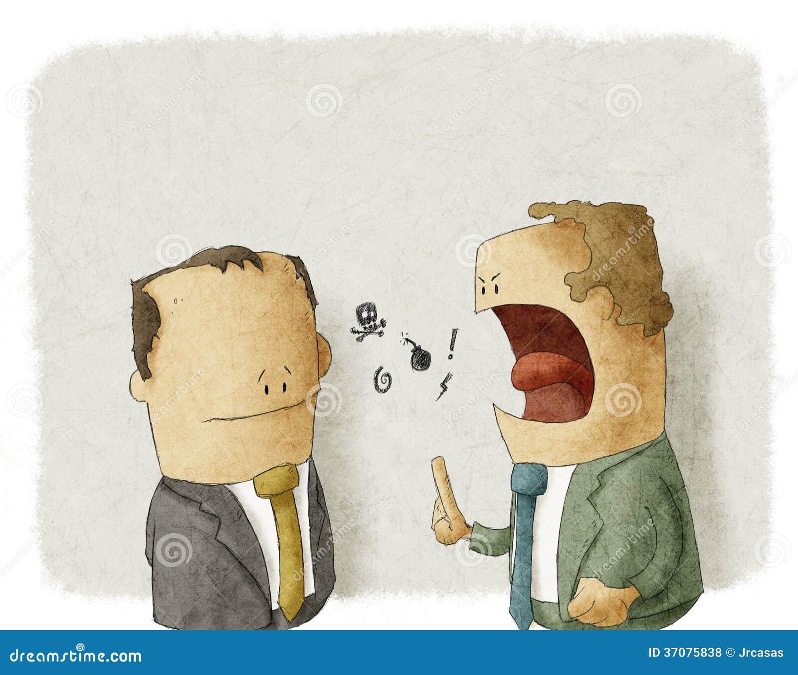 Southing Angestellter des verärgerten Chefs