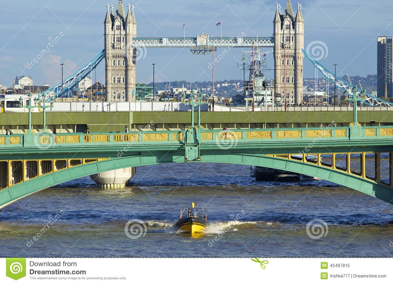 Southwark桥梁和塔桥梁,伦敦