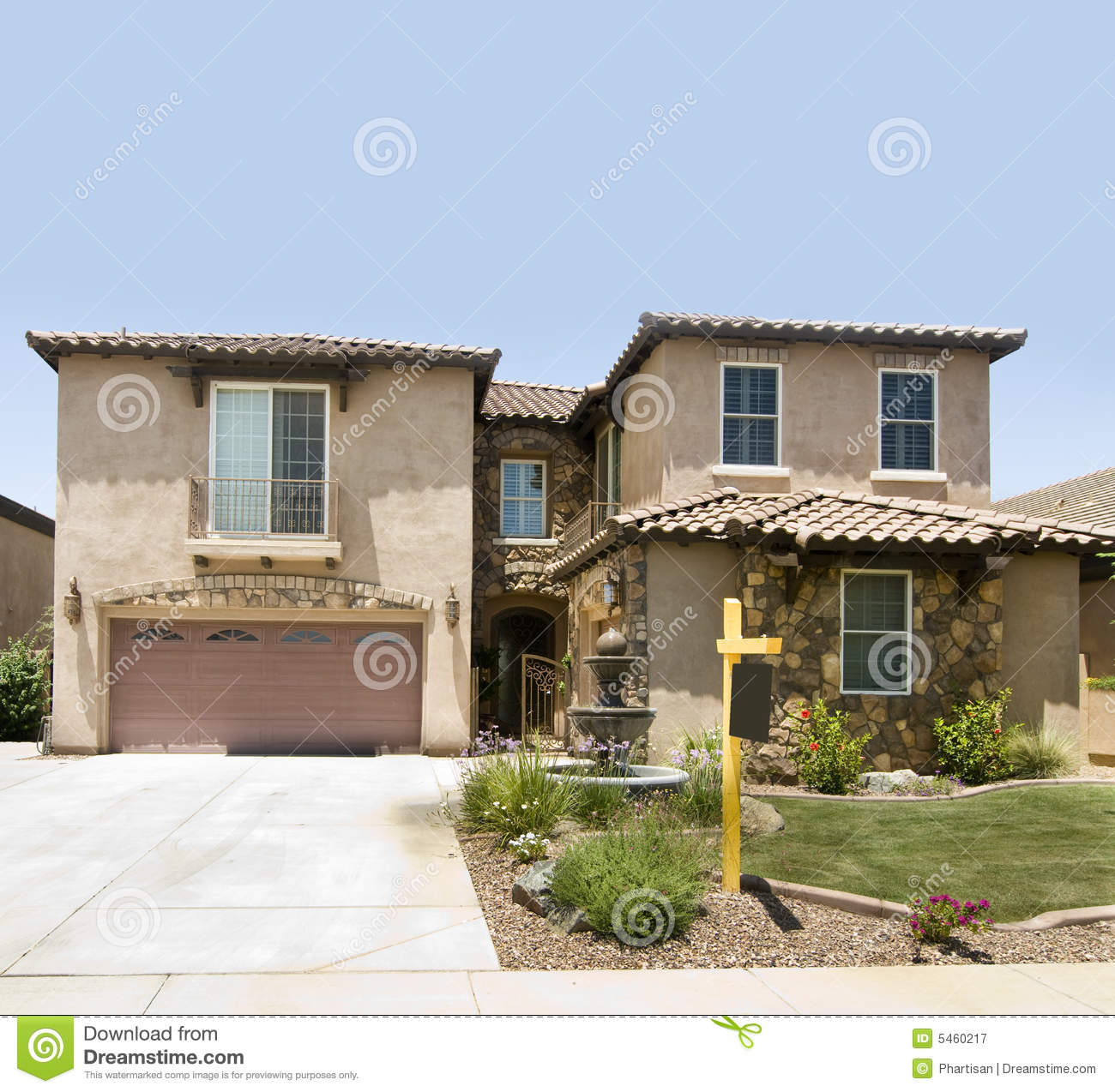 Southwestern Home For Sale Royalty Free Stock Photography