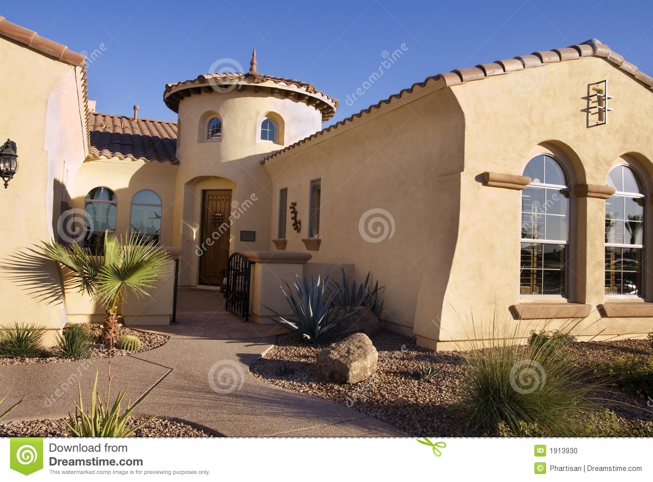 Southwestern style modern home stock photo image of for Southwestern home plans