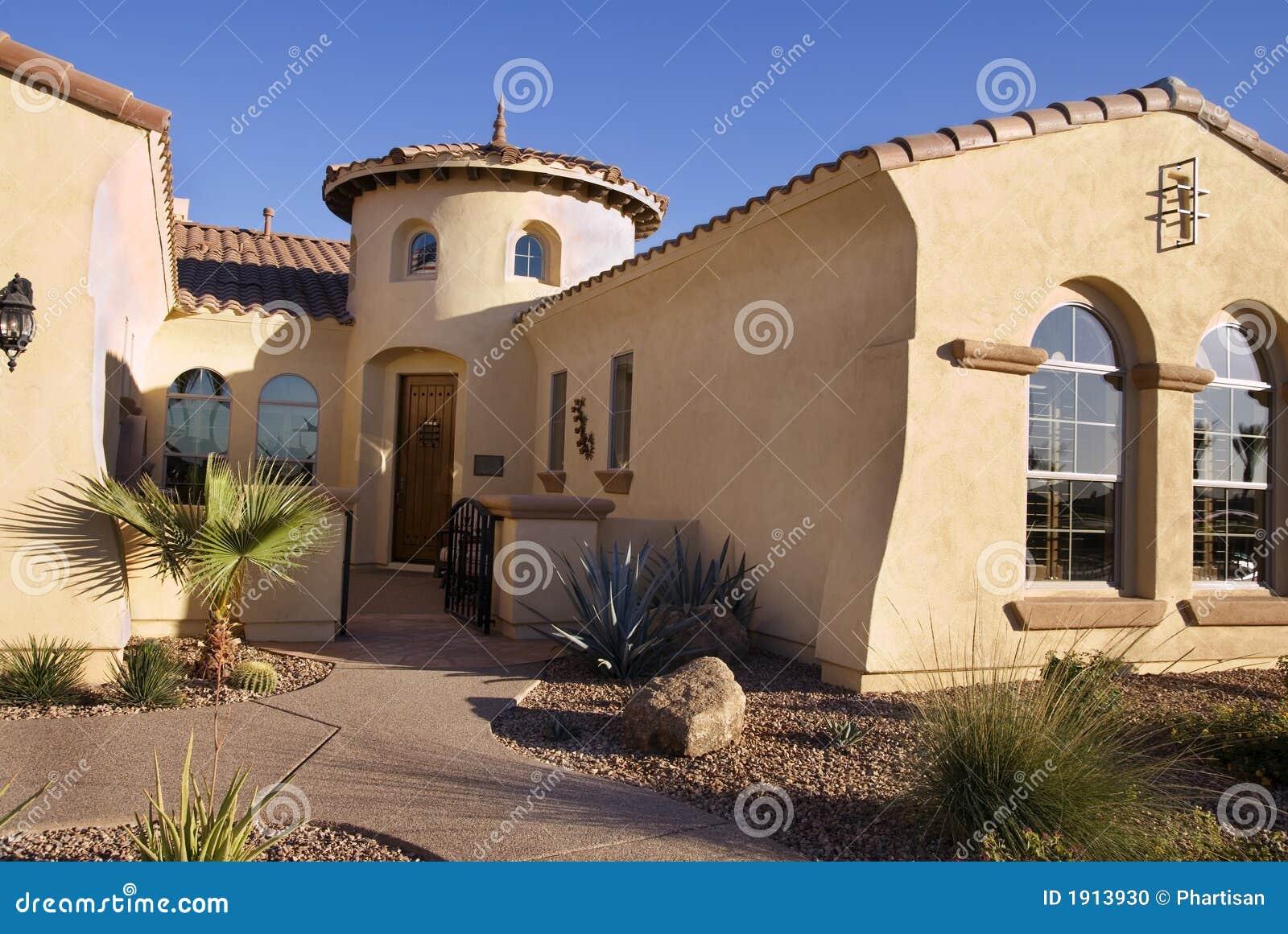 Southwestern Style Modern Home Stock Photo Image 1913930