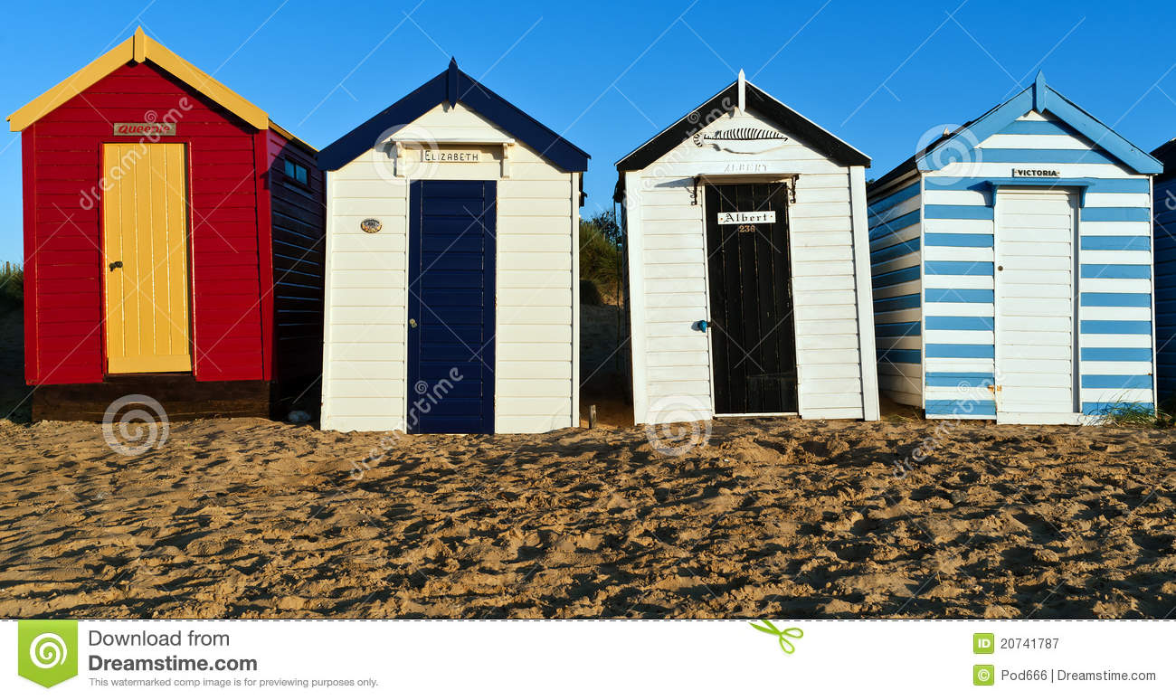 Southwold Royal Beach Huts Stock Image Image Of Blue 20741787
