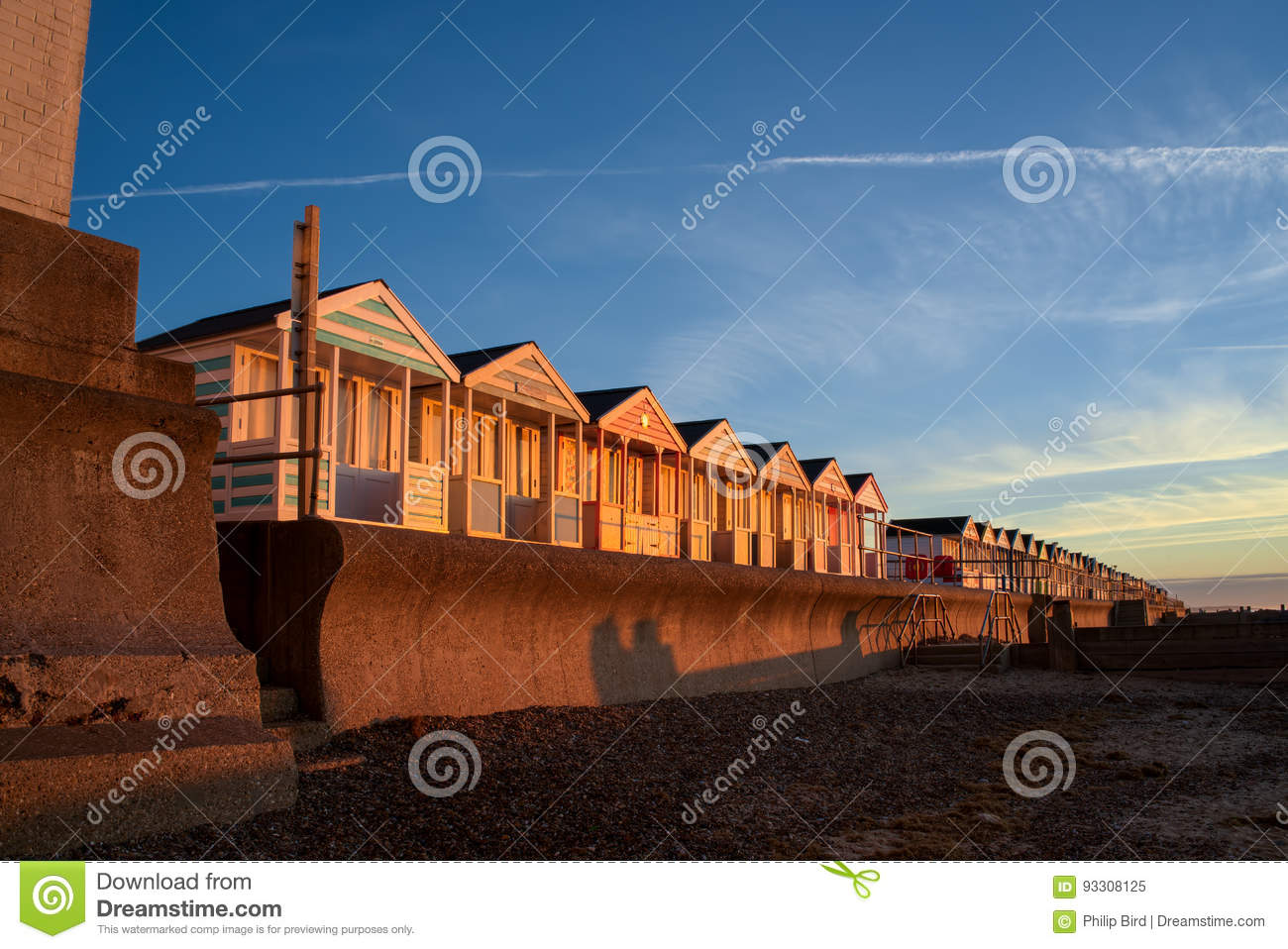 SOUTHWOLD, SUFFOLK/UK - MAY 24 : A Row of Brightly Coloured Beach Huts in Southwold Suffolk on May 24, 2017