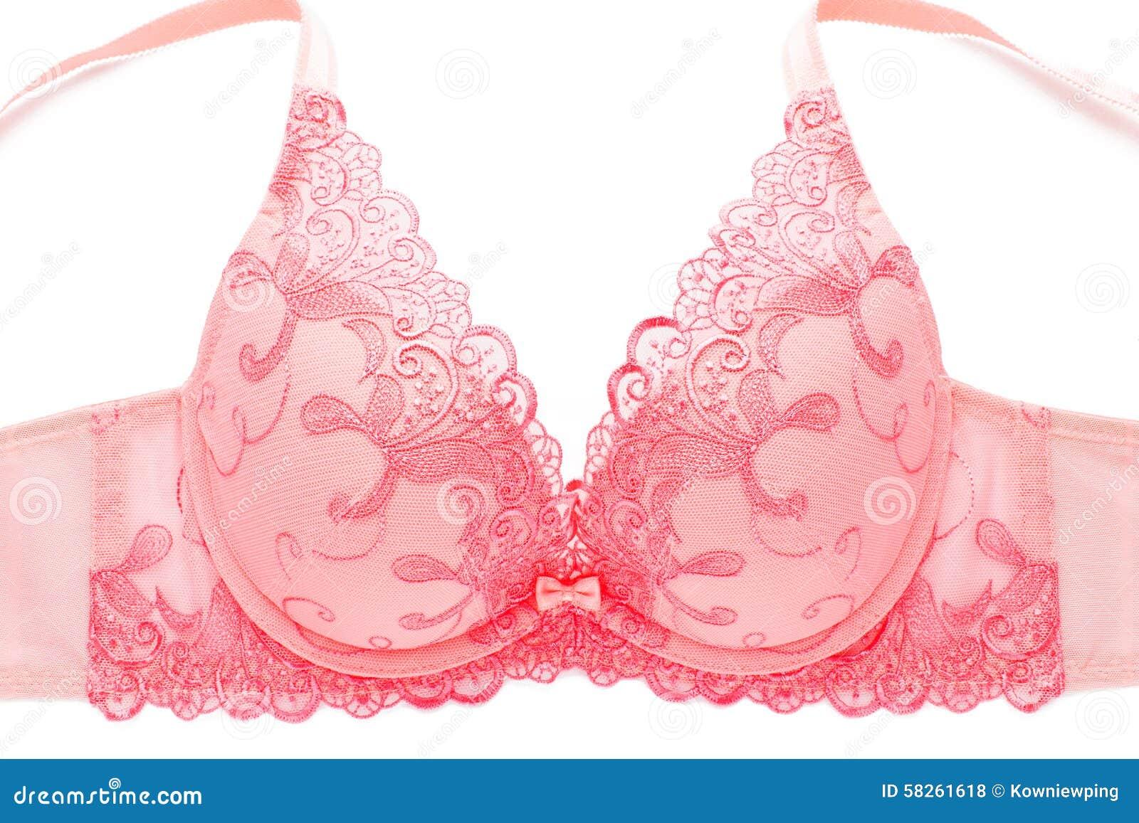 offre spéciale mignon pas cher détaillant en ligne Soutien-gorge Rose De Dentelle Photo stock - Image du ...
