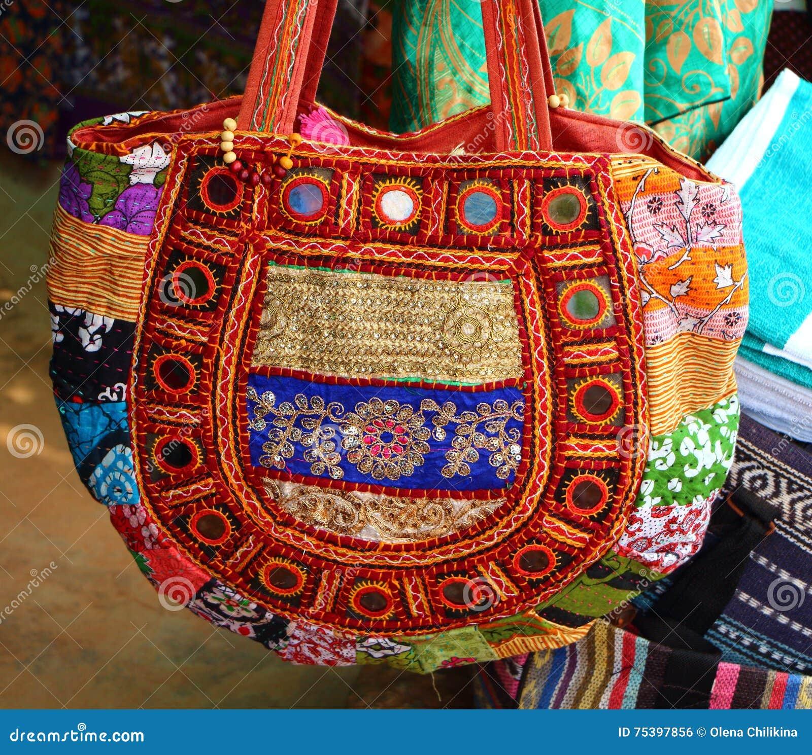 Souvenir Bag At The Gift Shop. India Stock Photo - Image of souvenir ... 5514728b2219d