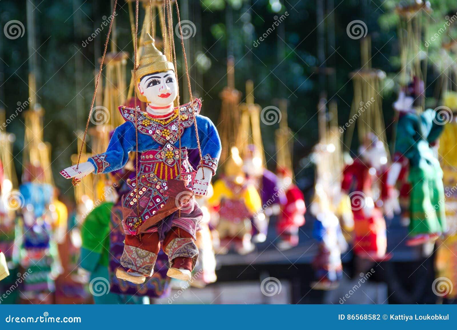 Souvenir de marionnette de tradition de Myanmar