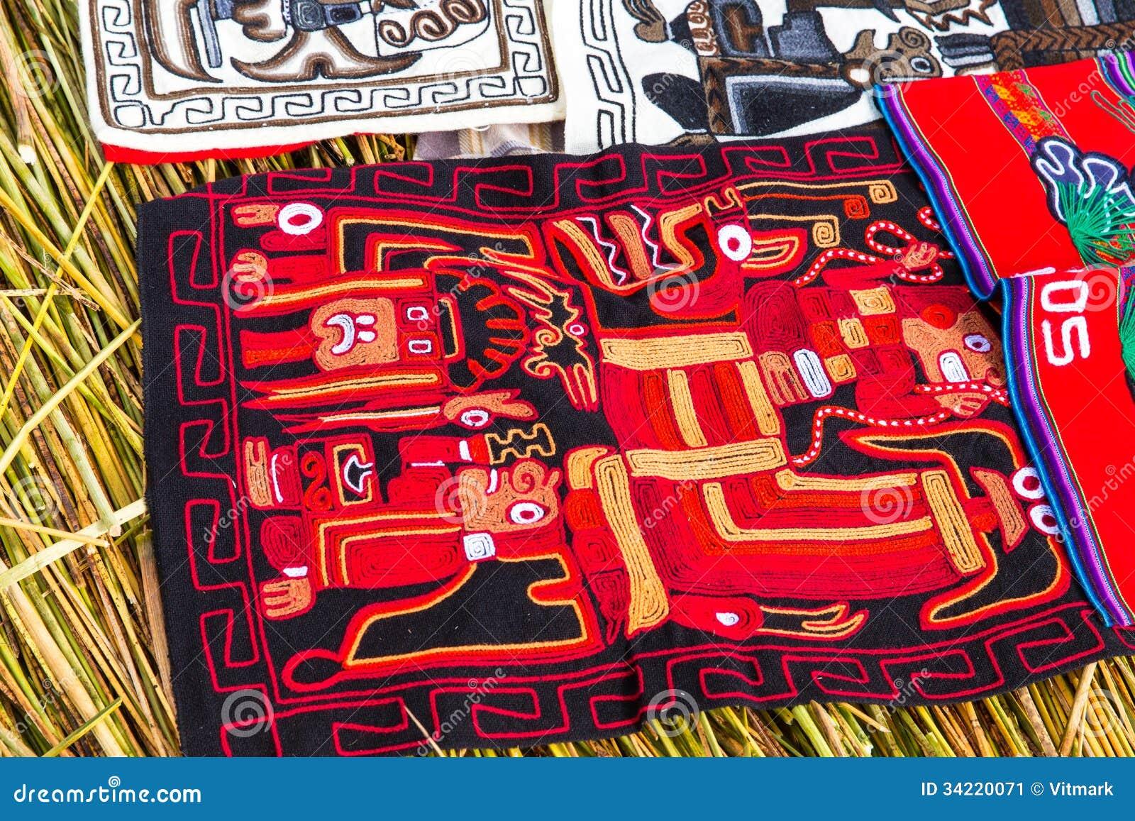 Souvenir On Floating Islands Titicaca Lake, Peru,South America ...