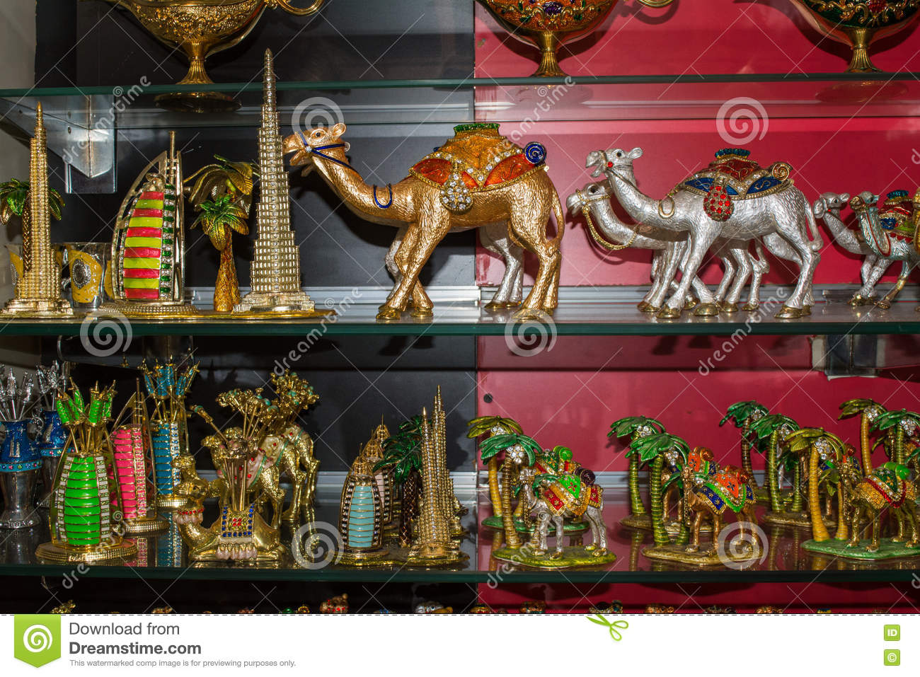 Souvenir Goods In The Arabian Store Stock Image - Image of favor