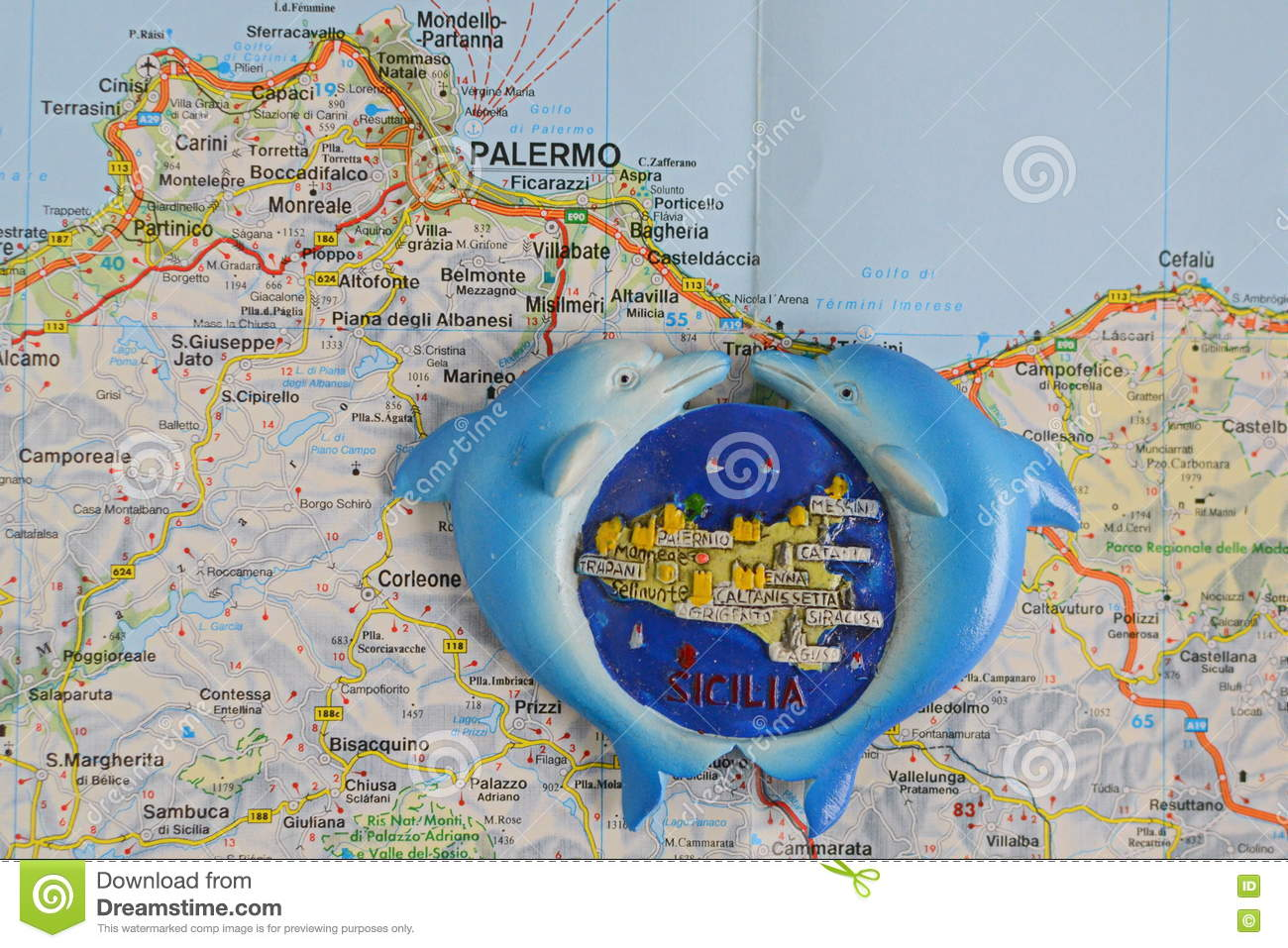 Souvenir From Italy, Sicily Stock Photo - Image of holiday ...