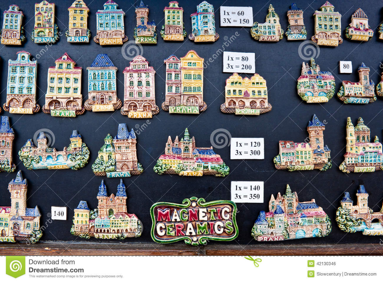 Souvenir Magnets In Prague Editorial Photo Image Of