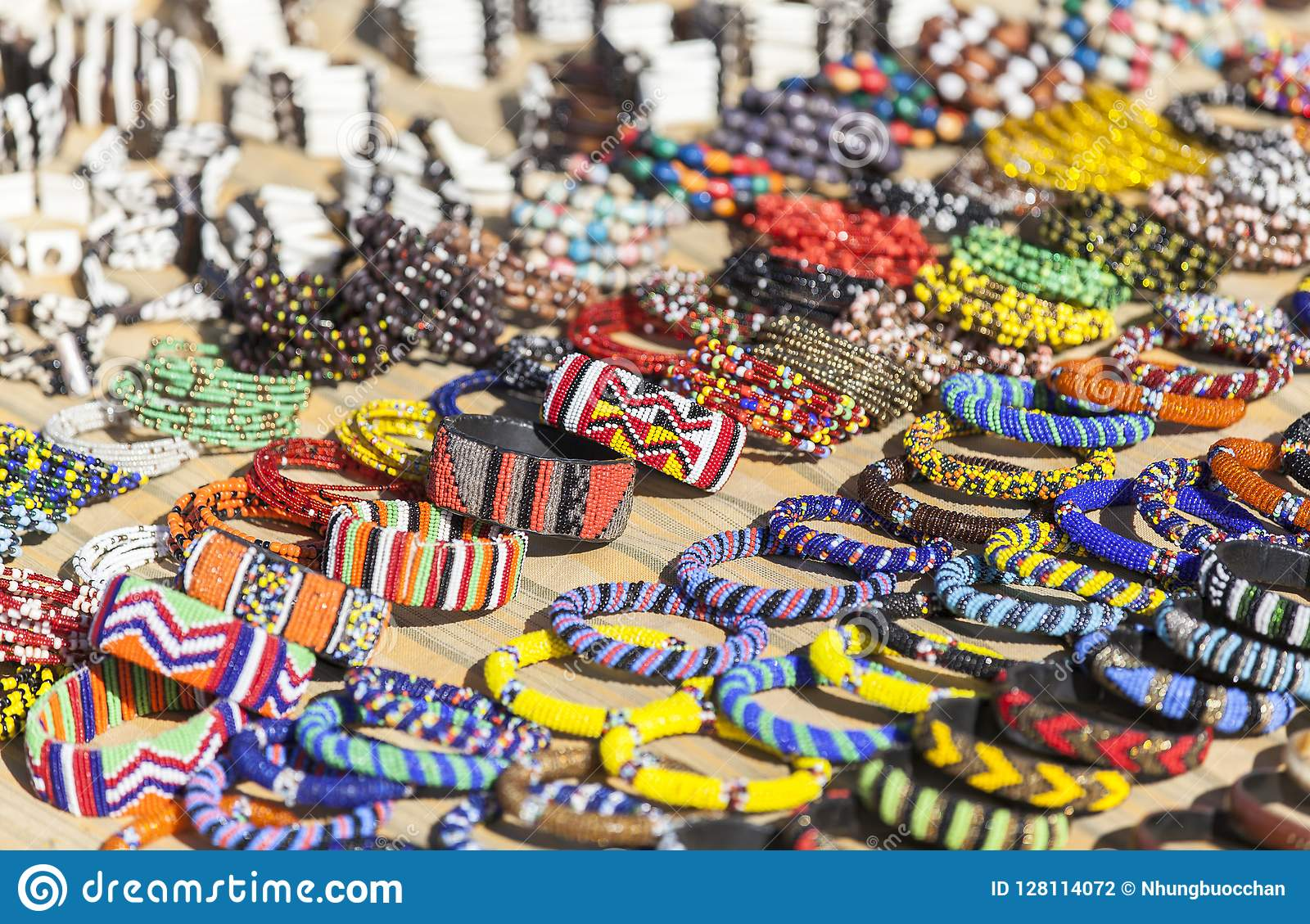 Souvenir Market In Nairobi Capital, Kenya Stock Photo