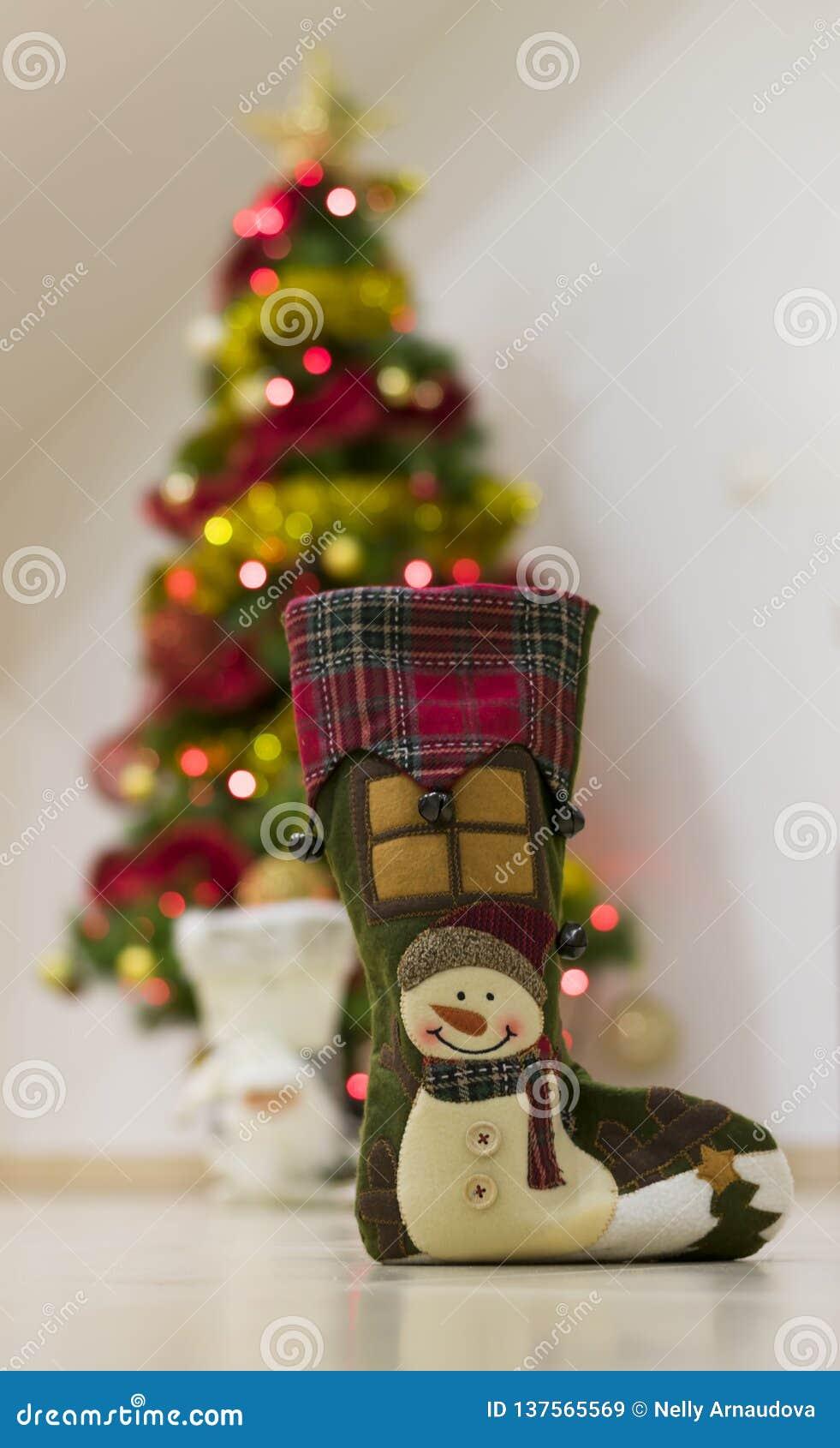 Souvenir med snö för jul