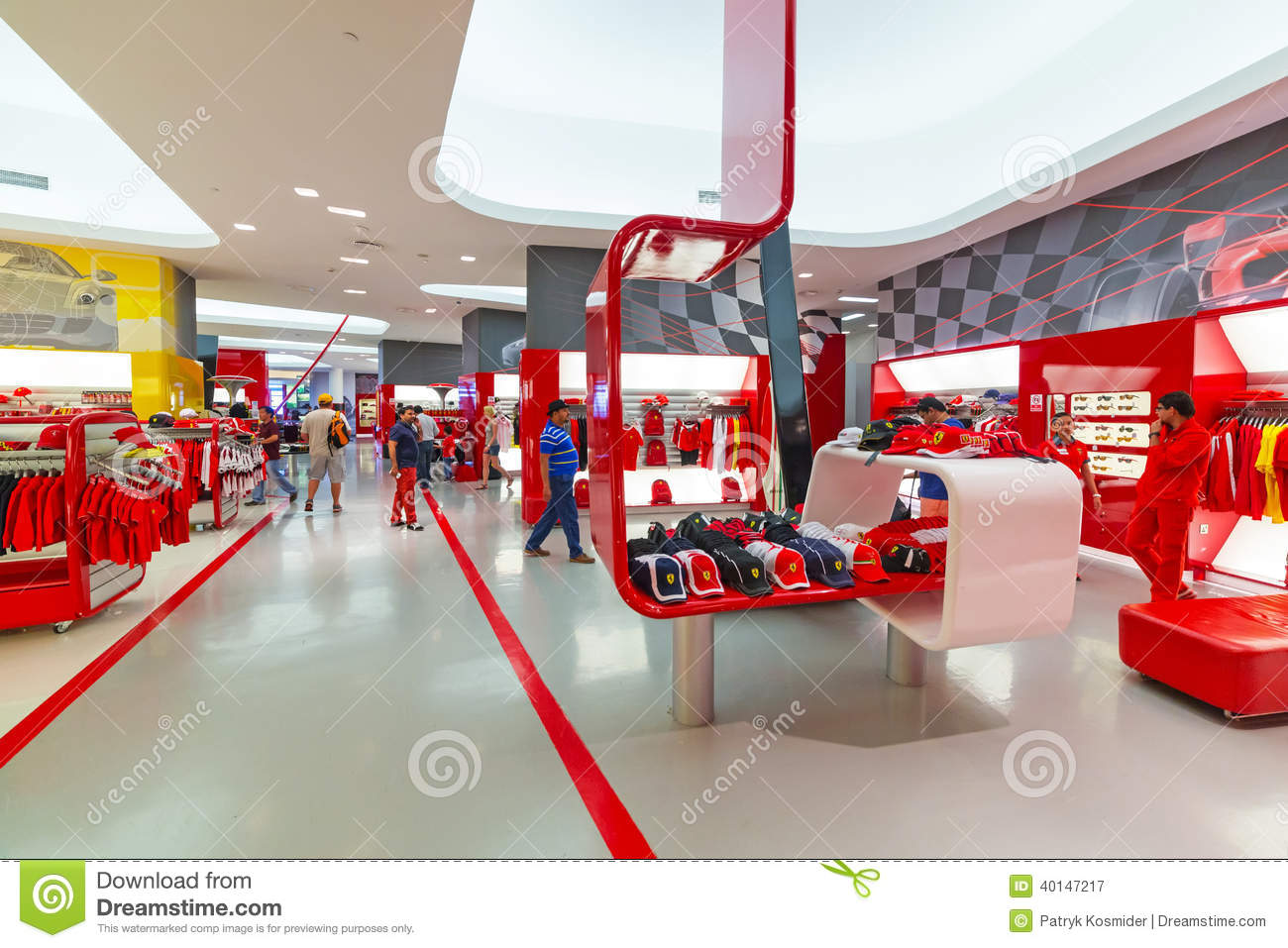 Interior Design Uae Souvenir Shop In Ferrari World Editorial Photography