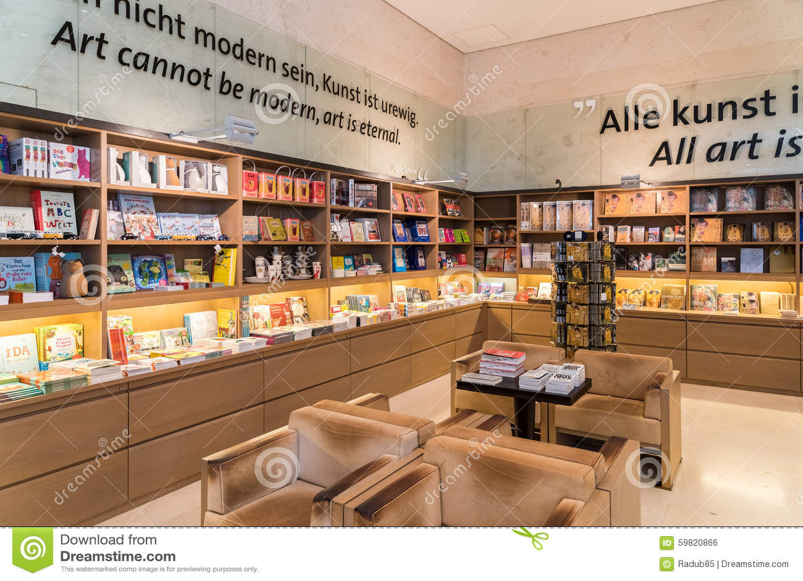 souvenir shop at leopold museum editorial photo image. Black Bedroom Furniture Sets. Home Design Ideas