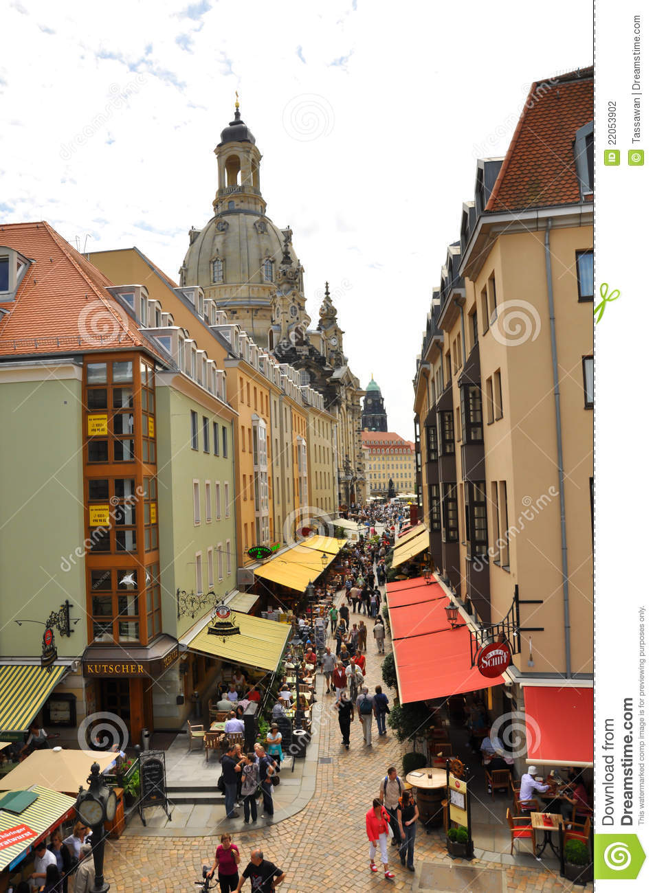 Souvenir Shop Street In Old Town DresdenGermany Editorial Photography - Image 22053902
