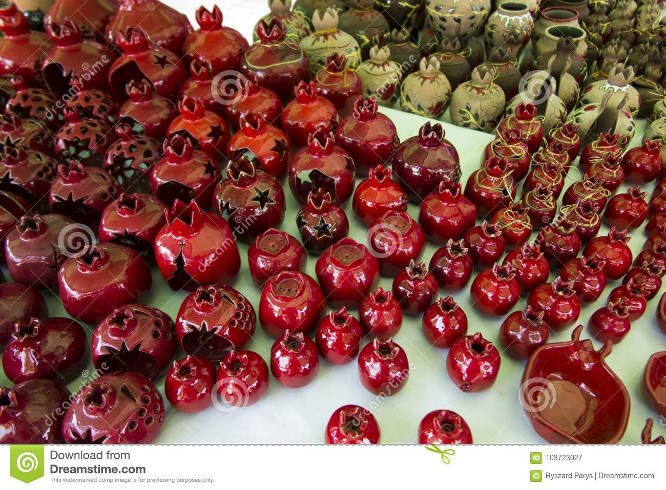 Souvenirs from Armenia with pomegranate motif