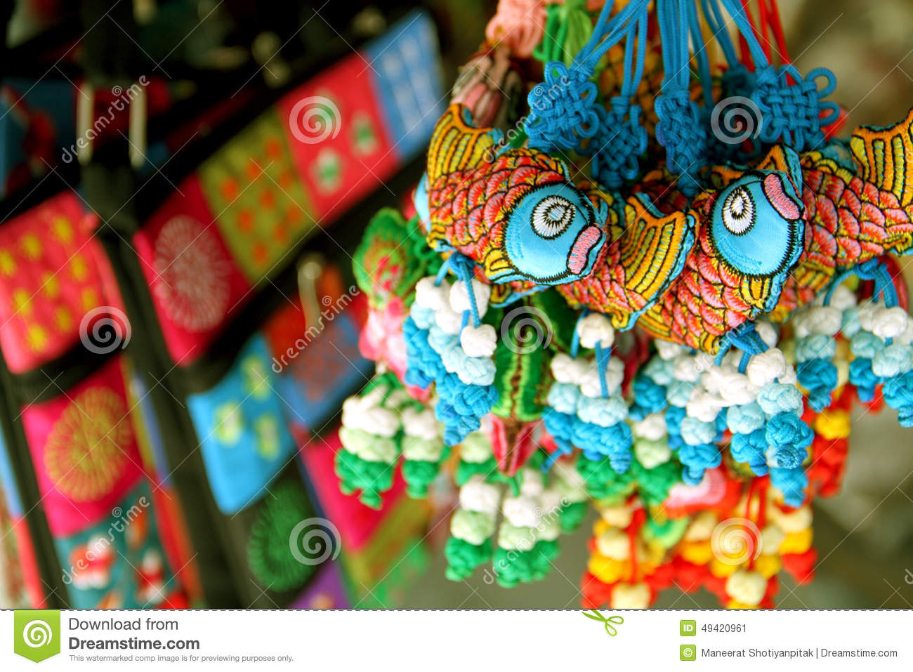 Download Souvenirs At Market , The Tourist Capital Of Vietnam. Stock Image - Image of blue, handmade: 49420961