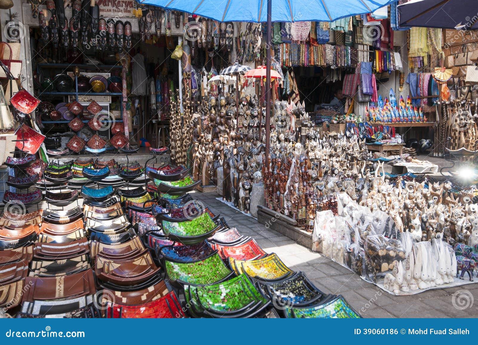 Souvenirs At Ubud Market Editorial Photo - Image: 39060186