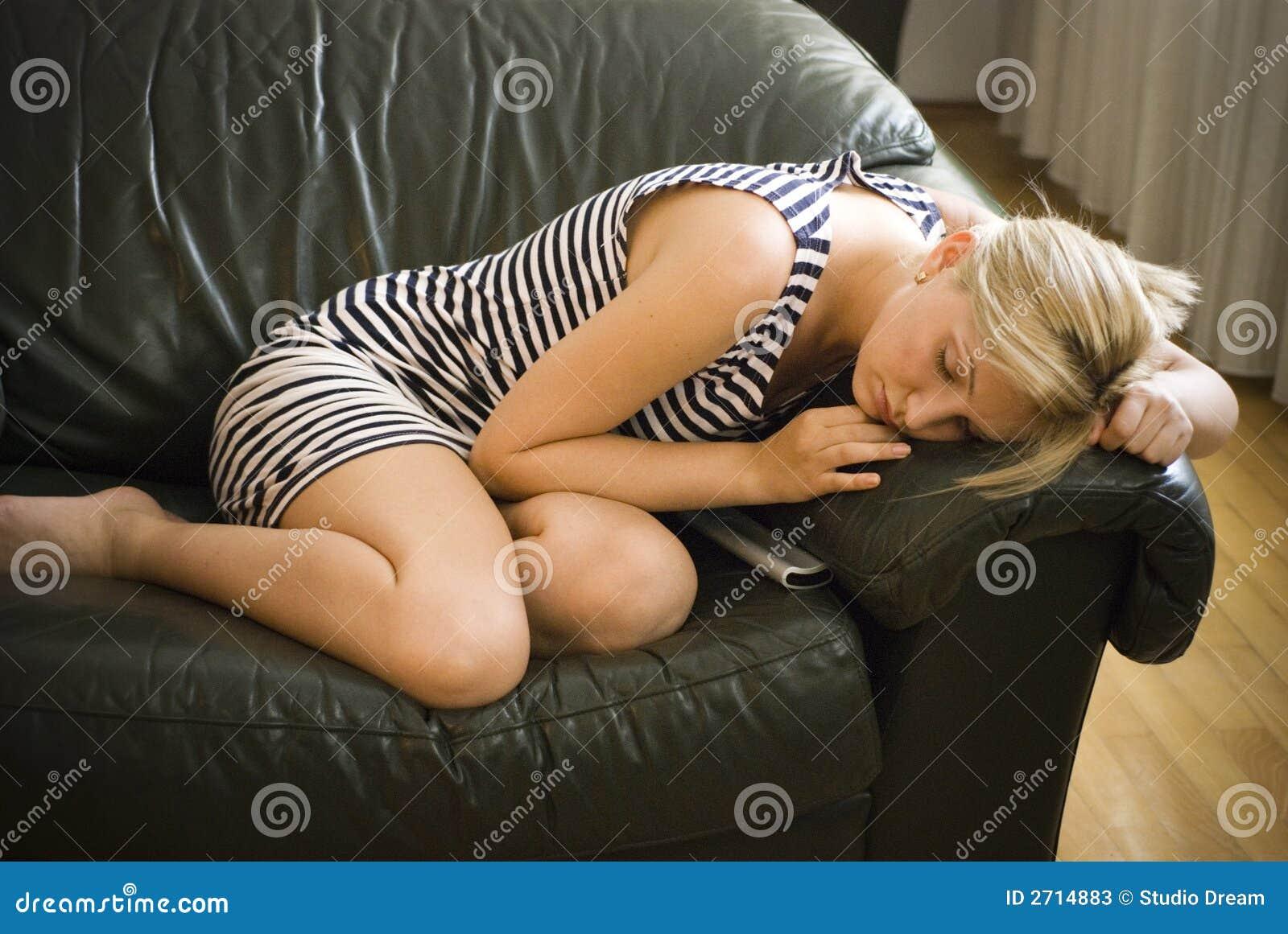 Sova kvinna för soffa