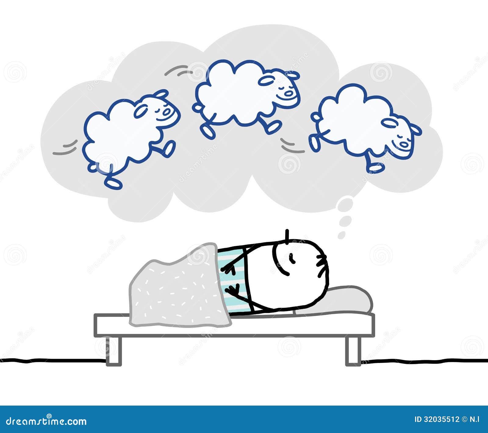 Sova mannen & trevlig dröm