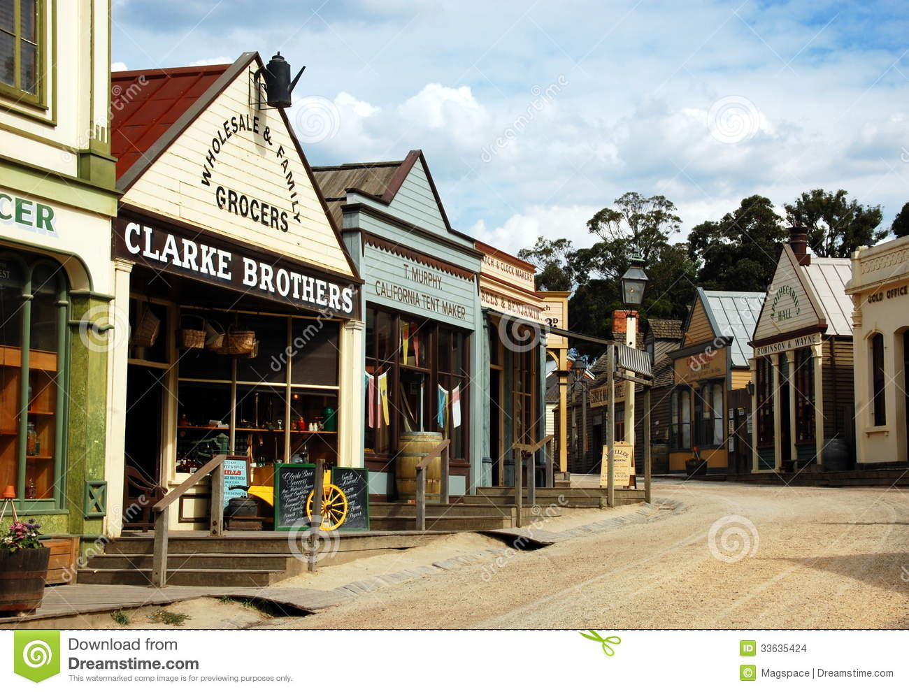Ballarat Australia  city photos : Sovereing Hill, Ballarat, Australia Editorial Stock Image Image ...