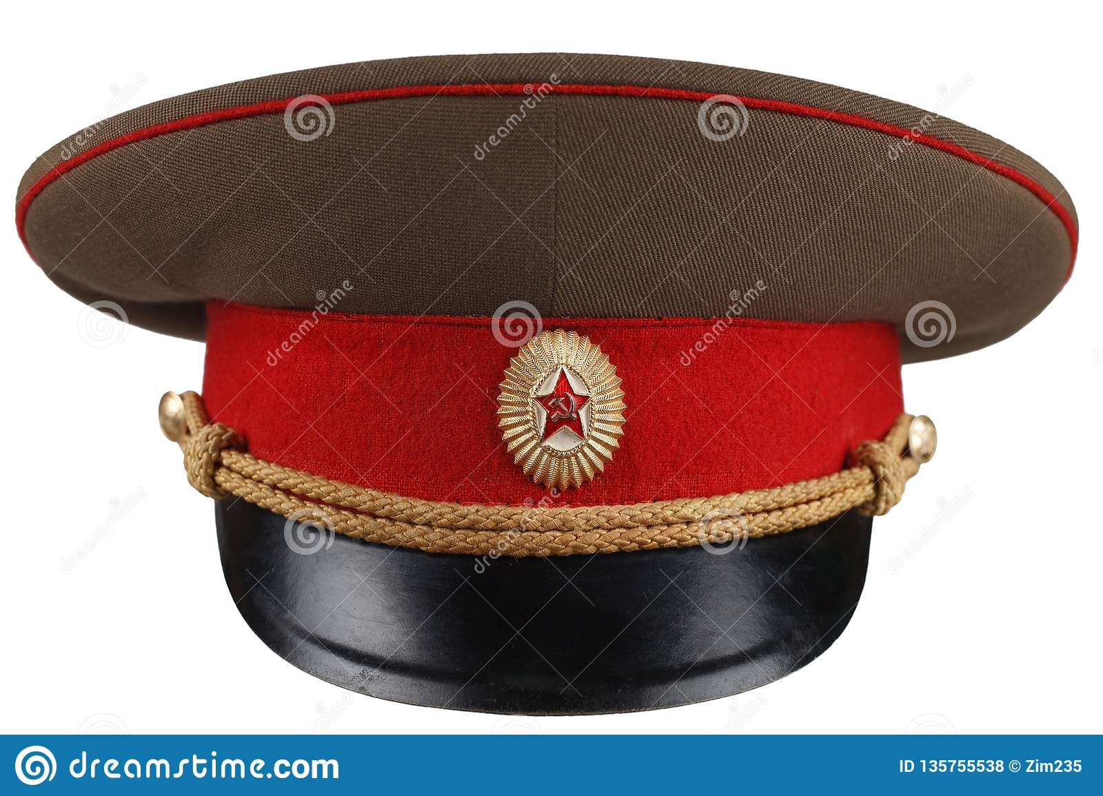 1833da1ca1b Soviet Army Officer Cap Isolated On White Background Stock Photo ...