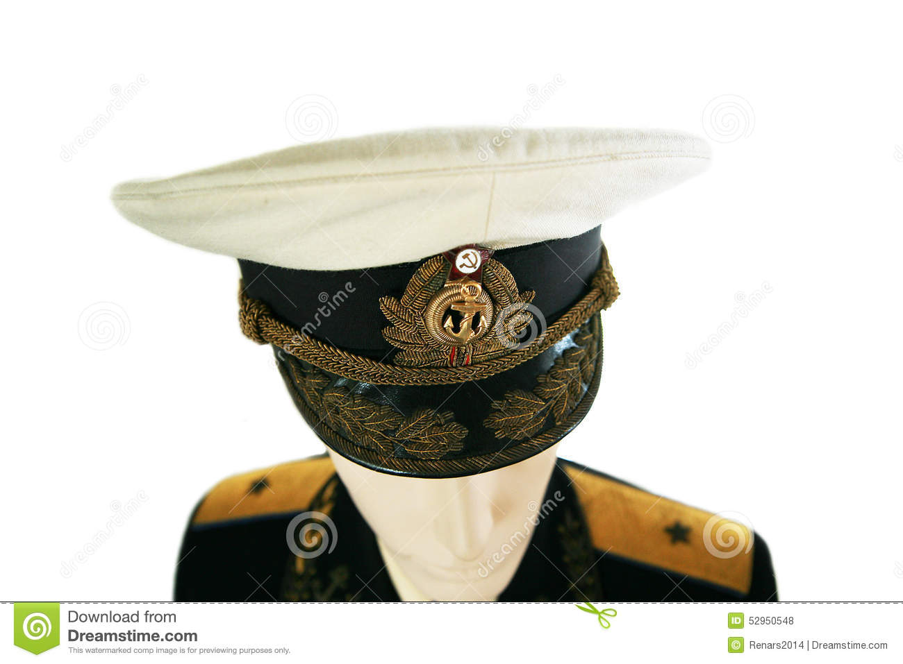Soviet Army Officer In Uniform Stock Photo - Image of navy