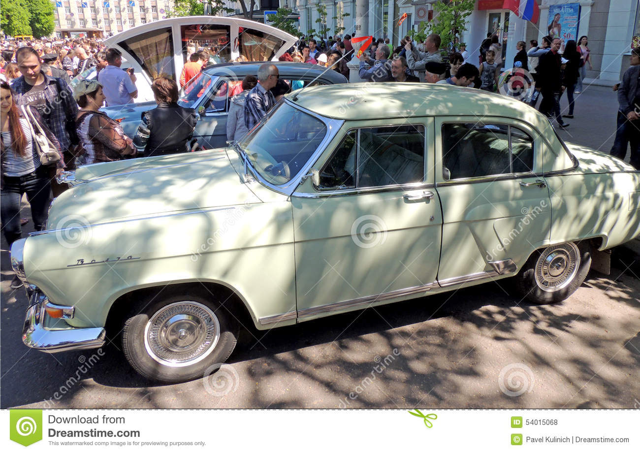 Retro Cars Of Of Ussr Gaz Volga Editorial Photography