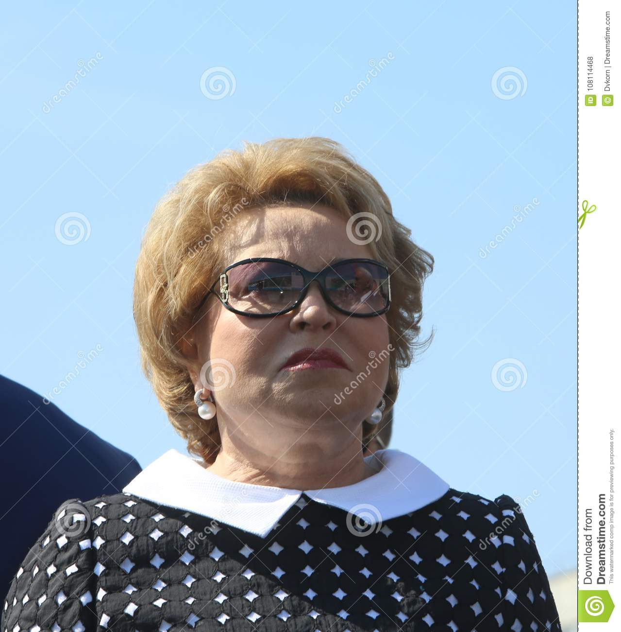 Valentina Matvienko Chairman of the Council of Federation of the Federal Assembly of the Russian Federation