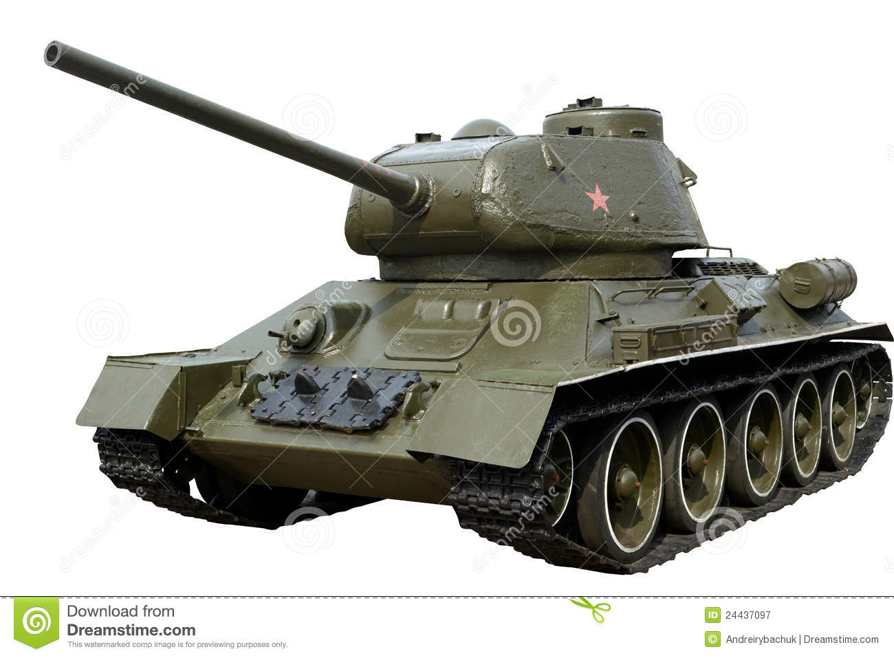 Soviet Tank T-34-85 Of The World War II Royalty Free Stock Photography ...
